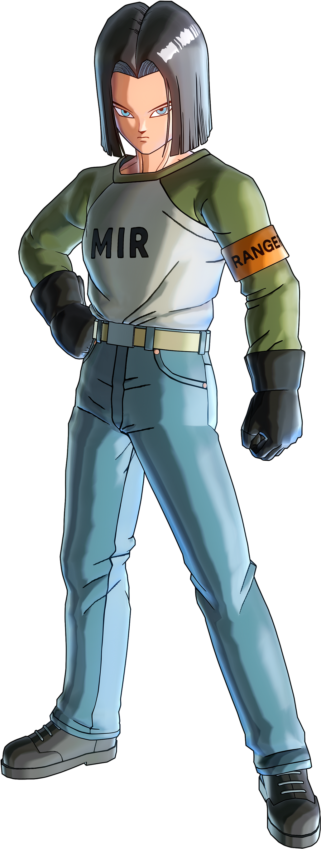 Ranger Android 17 from Dragon Ball Super Render (Dragon Ball Xenoverse 2).png