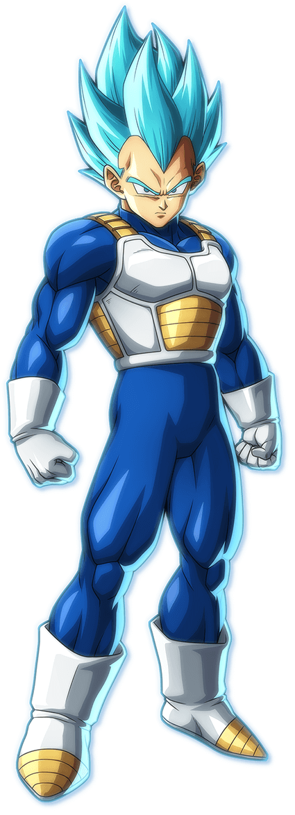 Super Saiyan Blue Vegeta PNG Render (Dragon Ball FighterZ)
