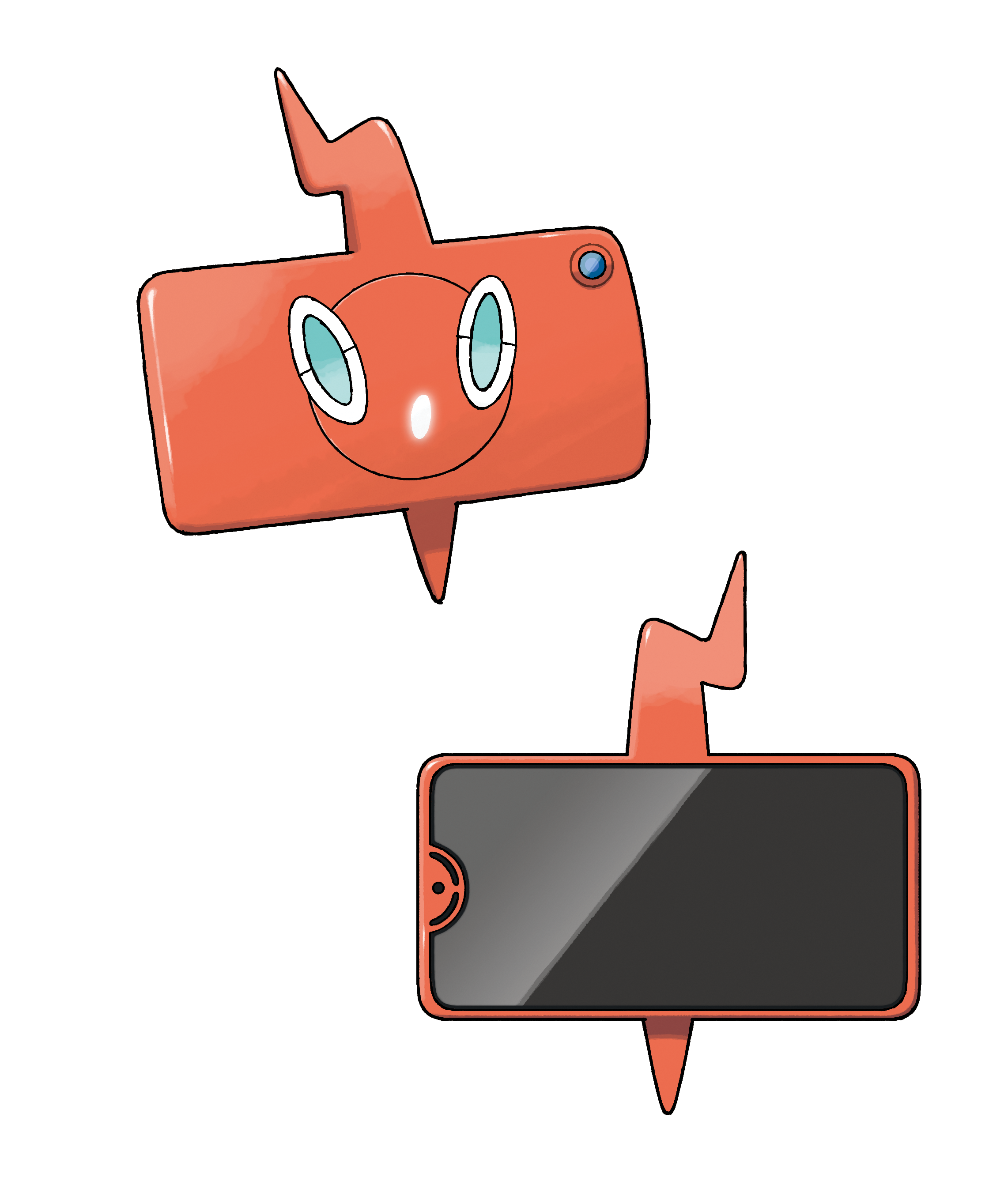 Rotom Smiles Back and Screen Front Render (Pokemon Sword and Shield).png