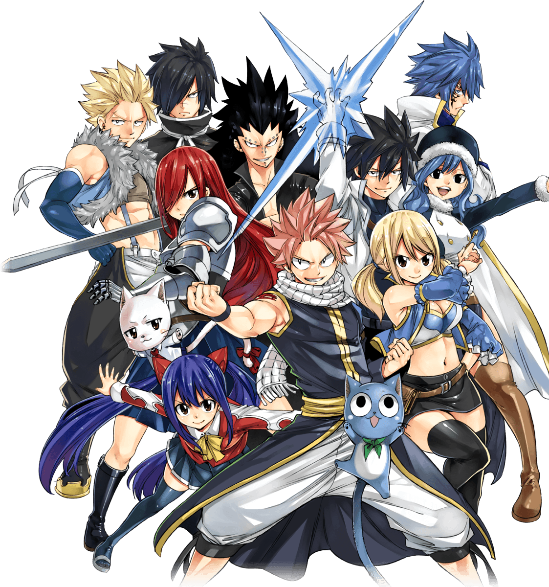 Fairy Tail 2020 Game Key Art in PNG