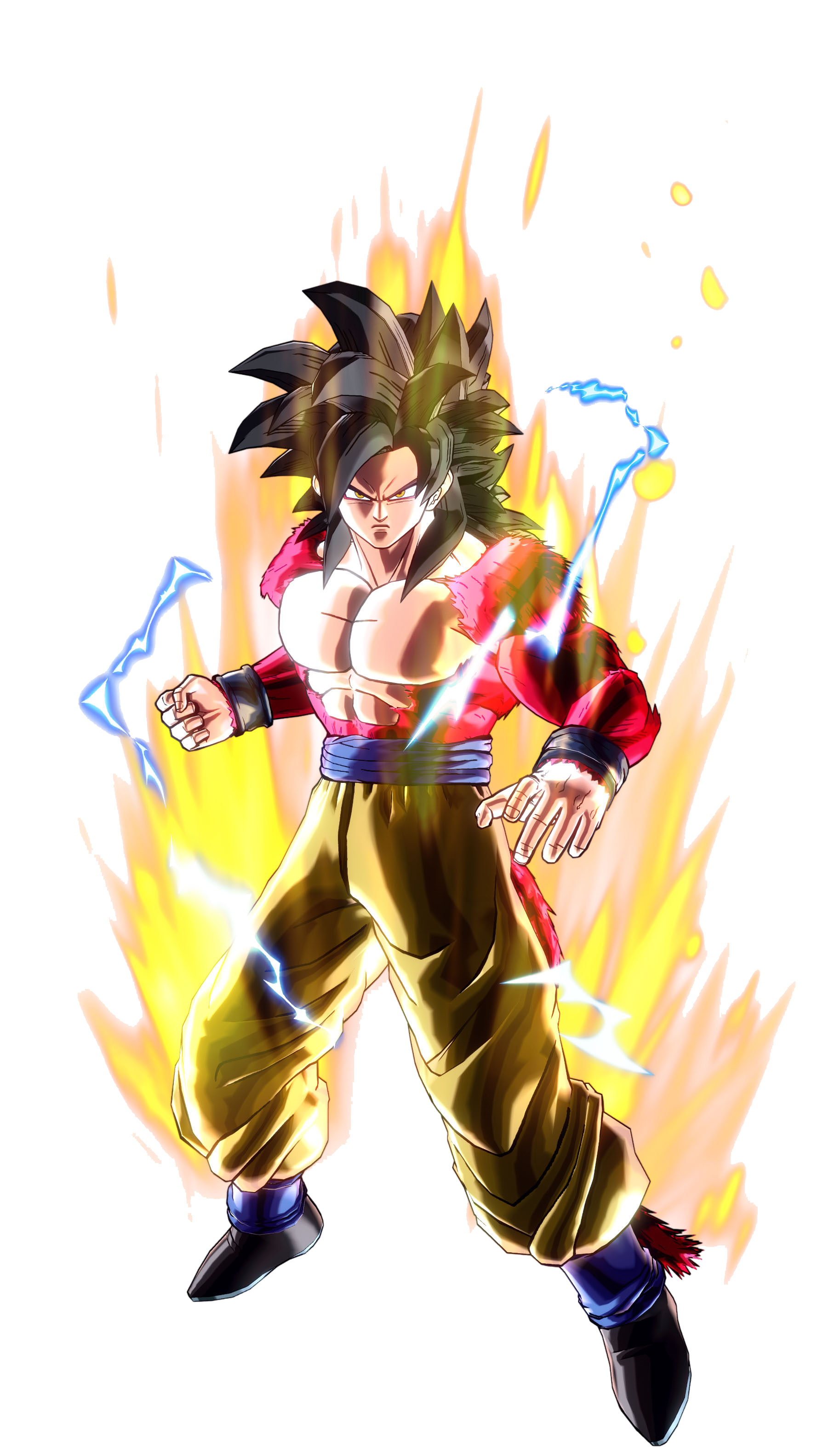 Goku Super Saiyan 4 Render (Dragon Ball Xenoverse).png