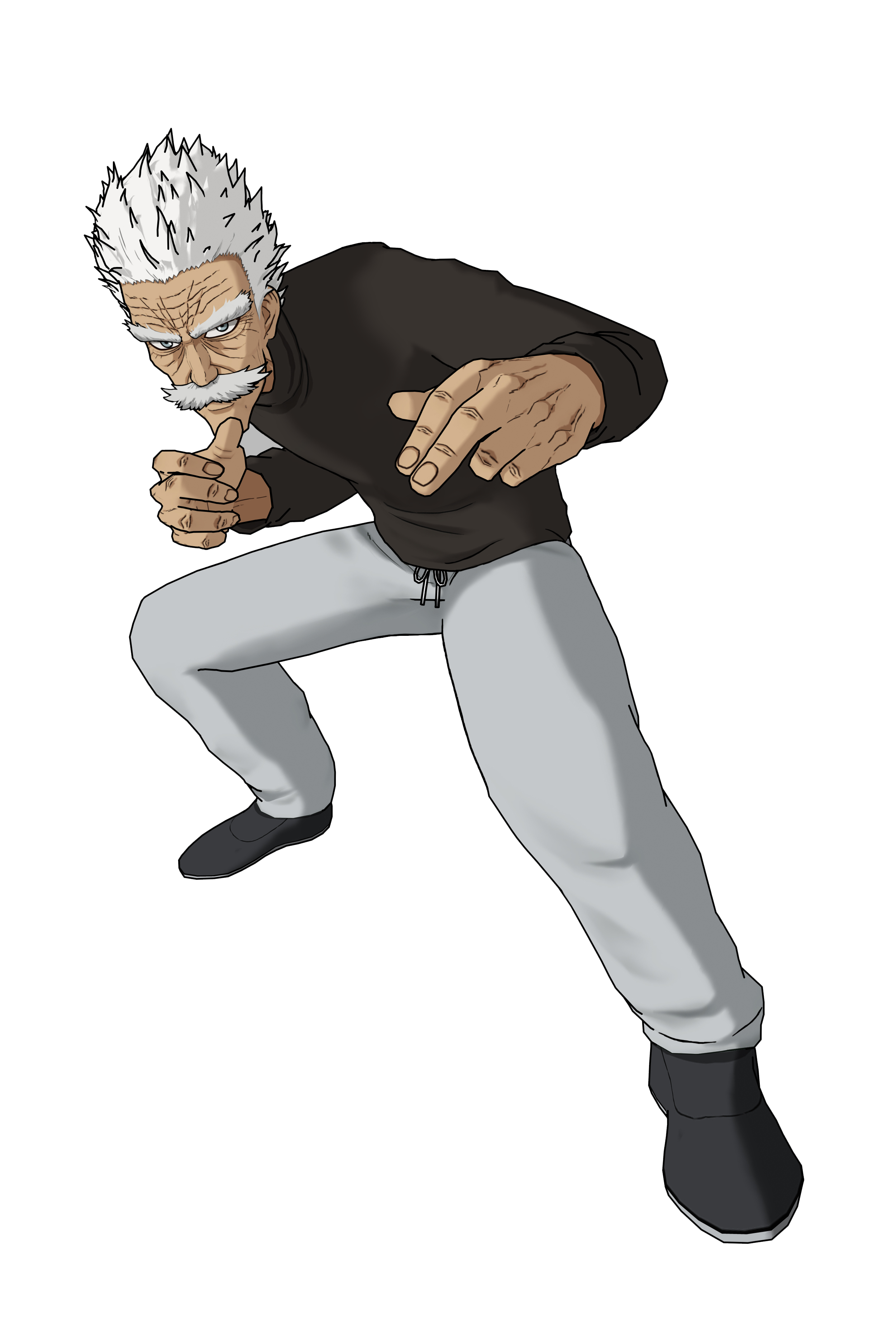 Silver Fang Render (One Punch Man A Hero Nobody Knows).png