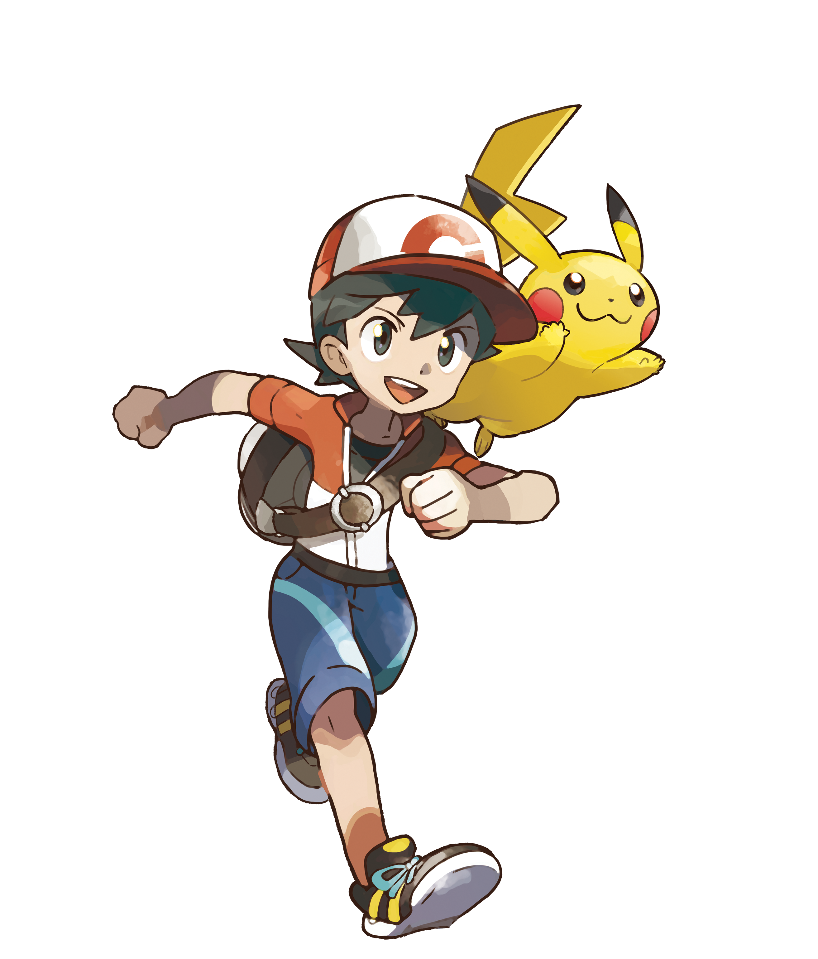 Boy Chase and Pikachu Render (Pokemon Let's Go).png
