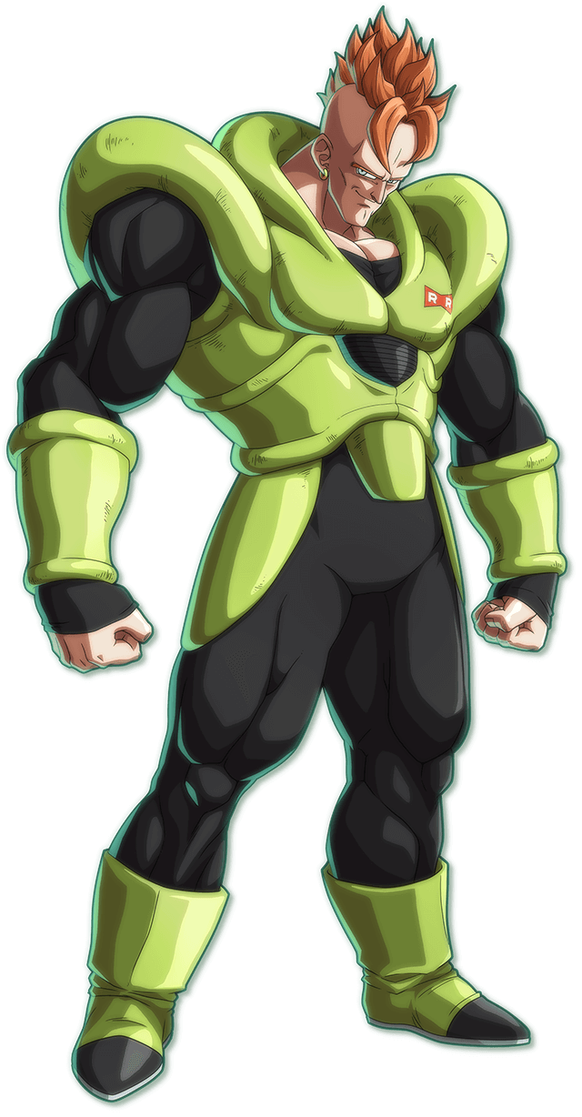 Android 16 PNG Render (Dragon Ball FighterZ)