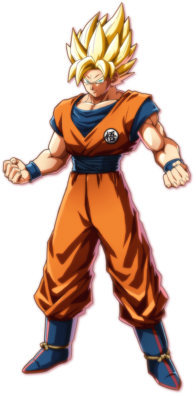 Super Saiyan Goku PNG Render (Dragon Ball FighterZ)