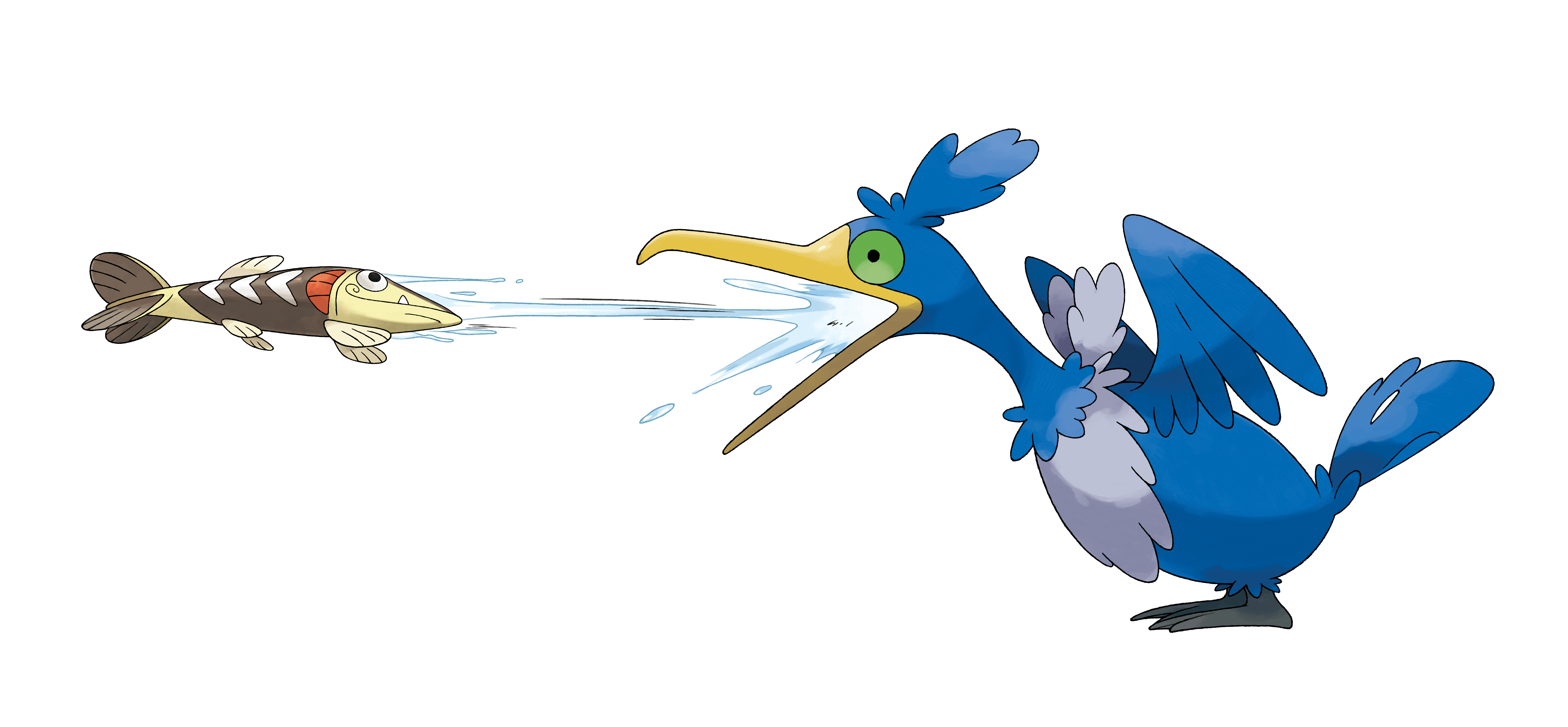 Cramorant Shoots Fish From Mouth PNG Render (Pokemon Sword and Shield)