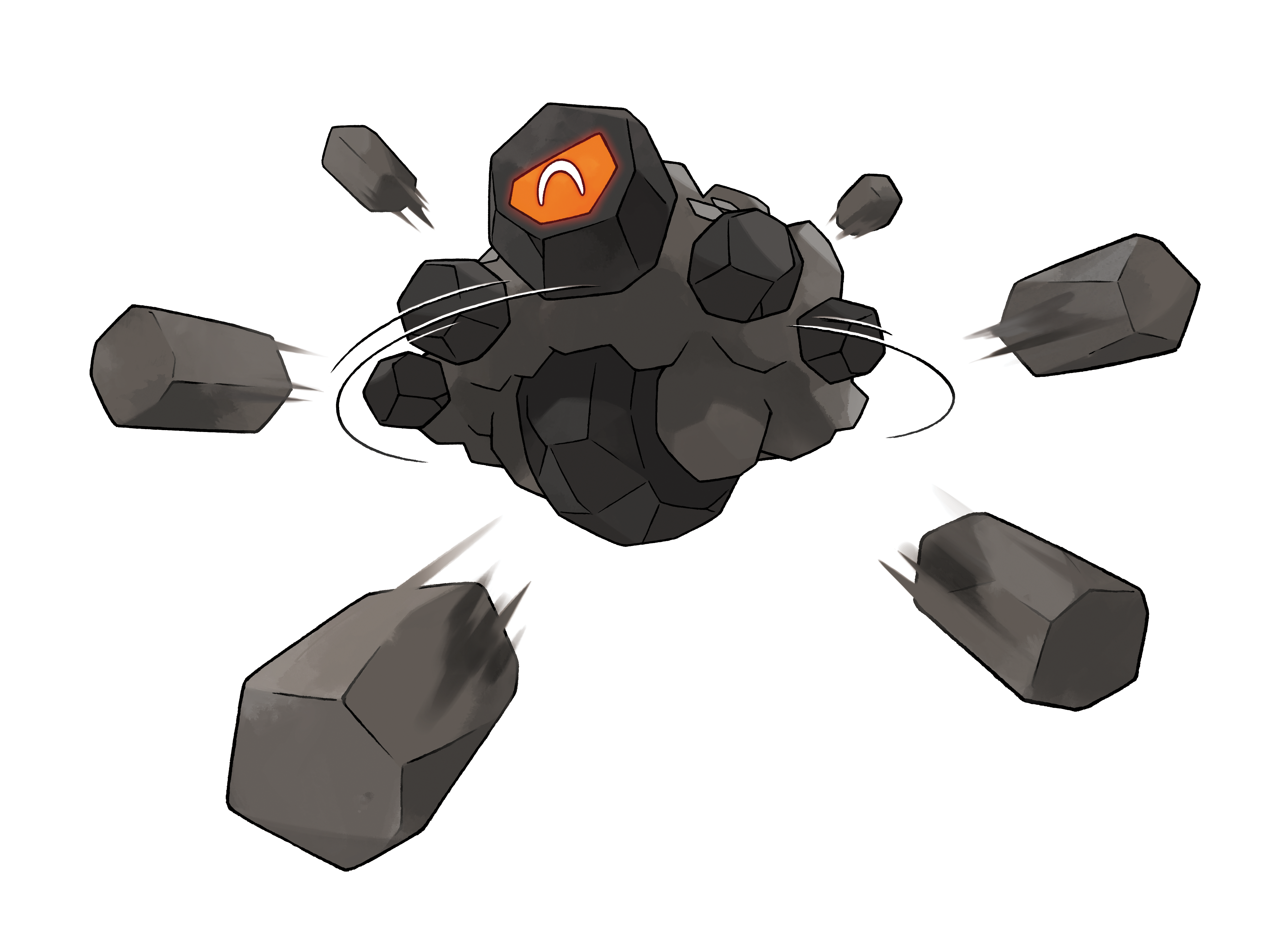 Rolycoly Shoots Coal Render (Pokemon Sword and Shield).png