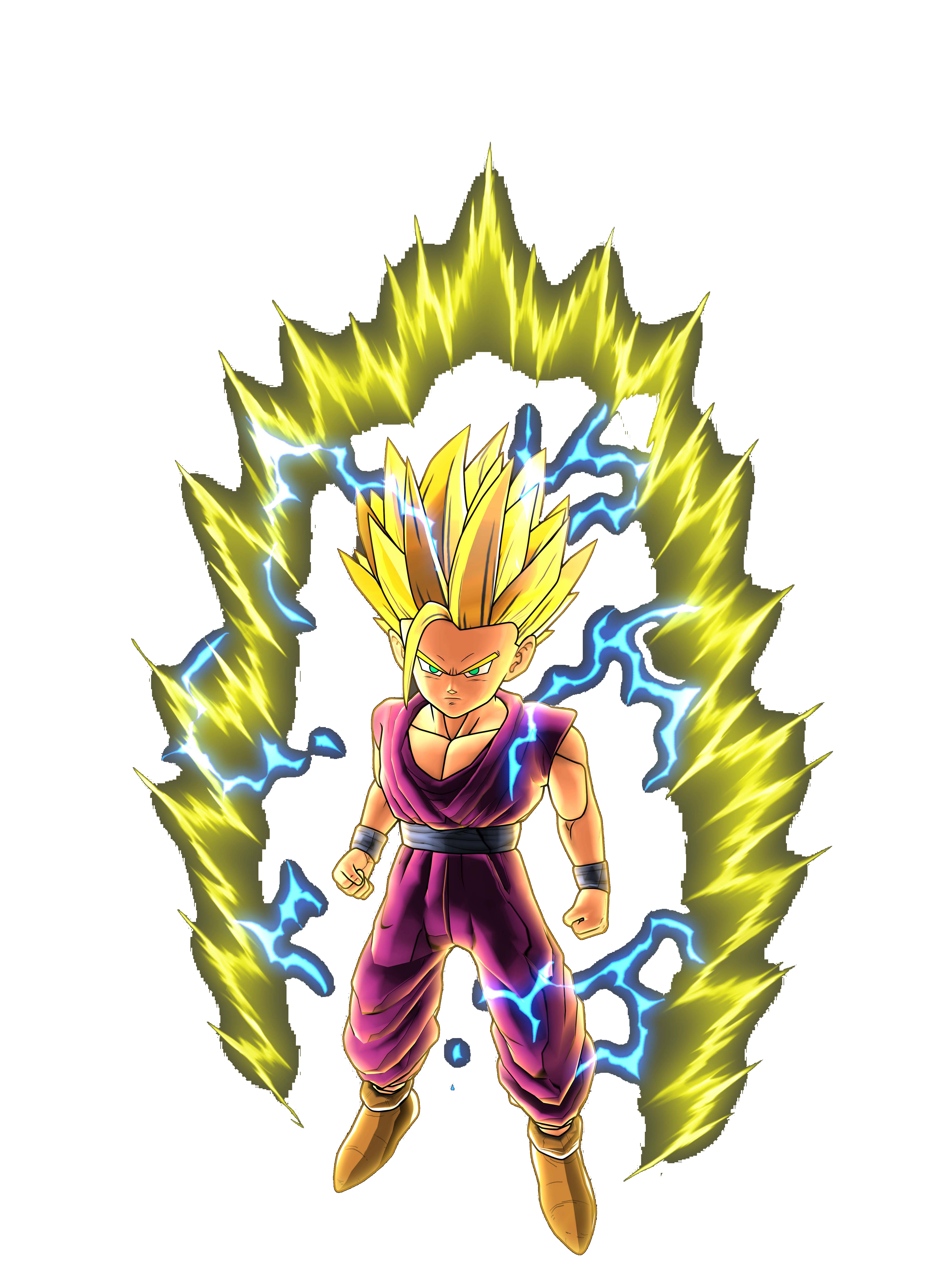Teen Gohan Super Saiyan 2 Render (Dragon Ball Z Battle of Z).png