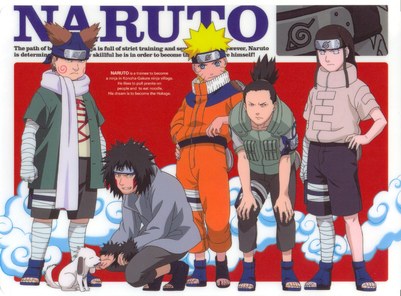 Choji, Kiba, Naruto, Shikamaru, Neji - The Sasuke Retrieval Team Poses