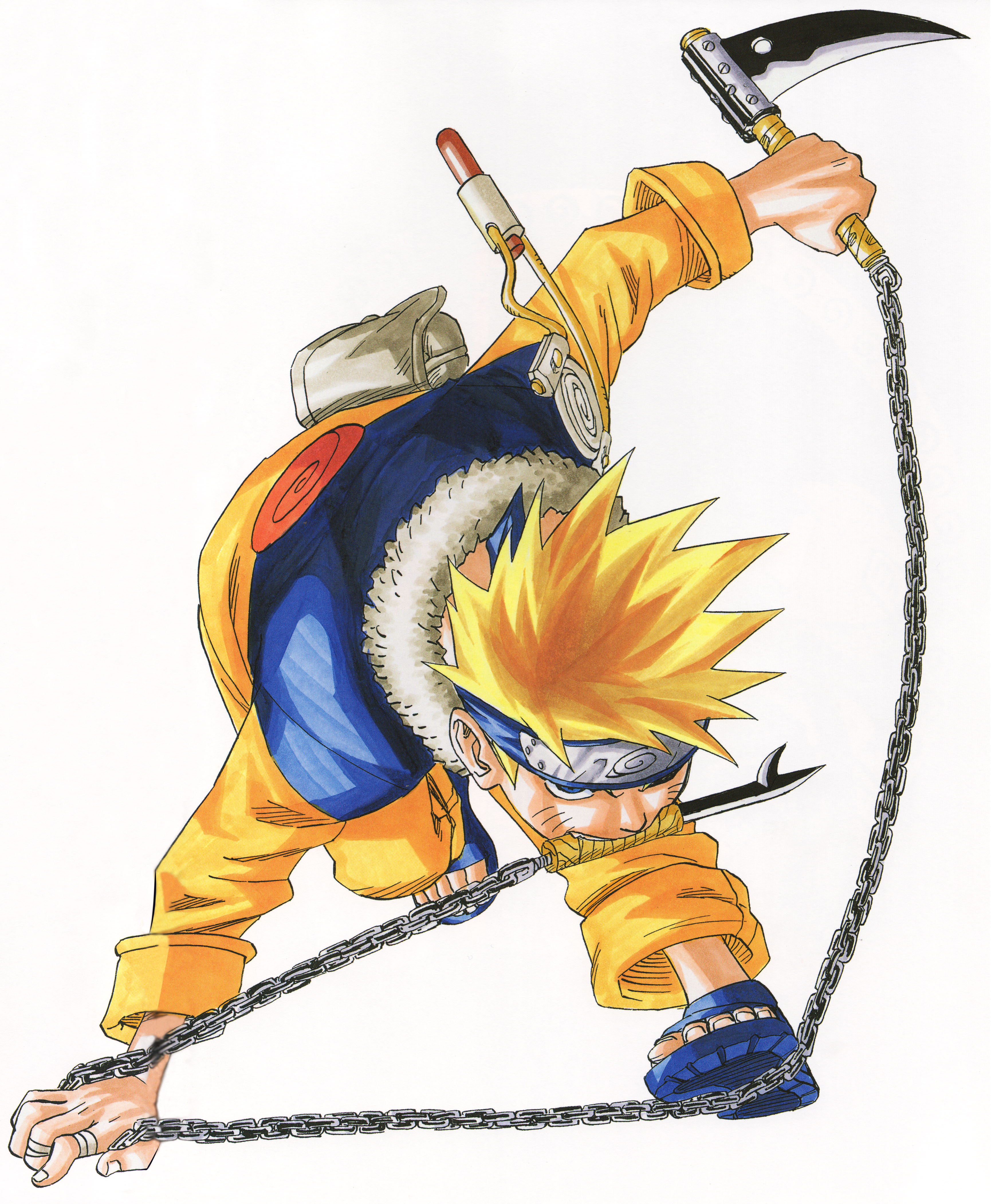 Naruto with a Chain in his Mouth