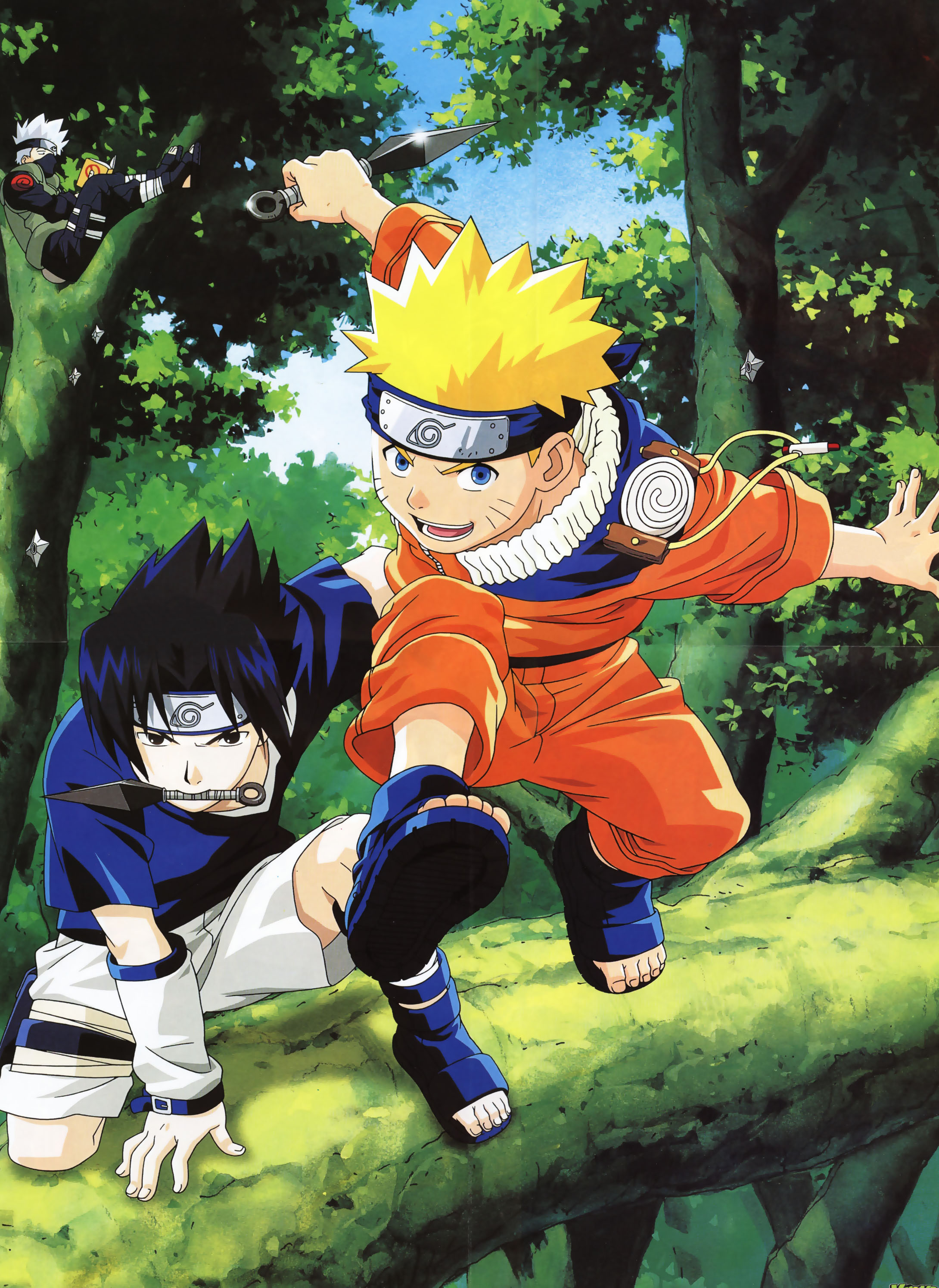 Naruto and Sasuke Ready for Action as Kakashi Relaxes.jpg