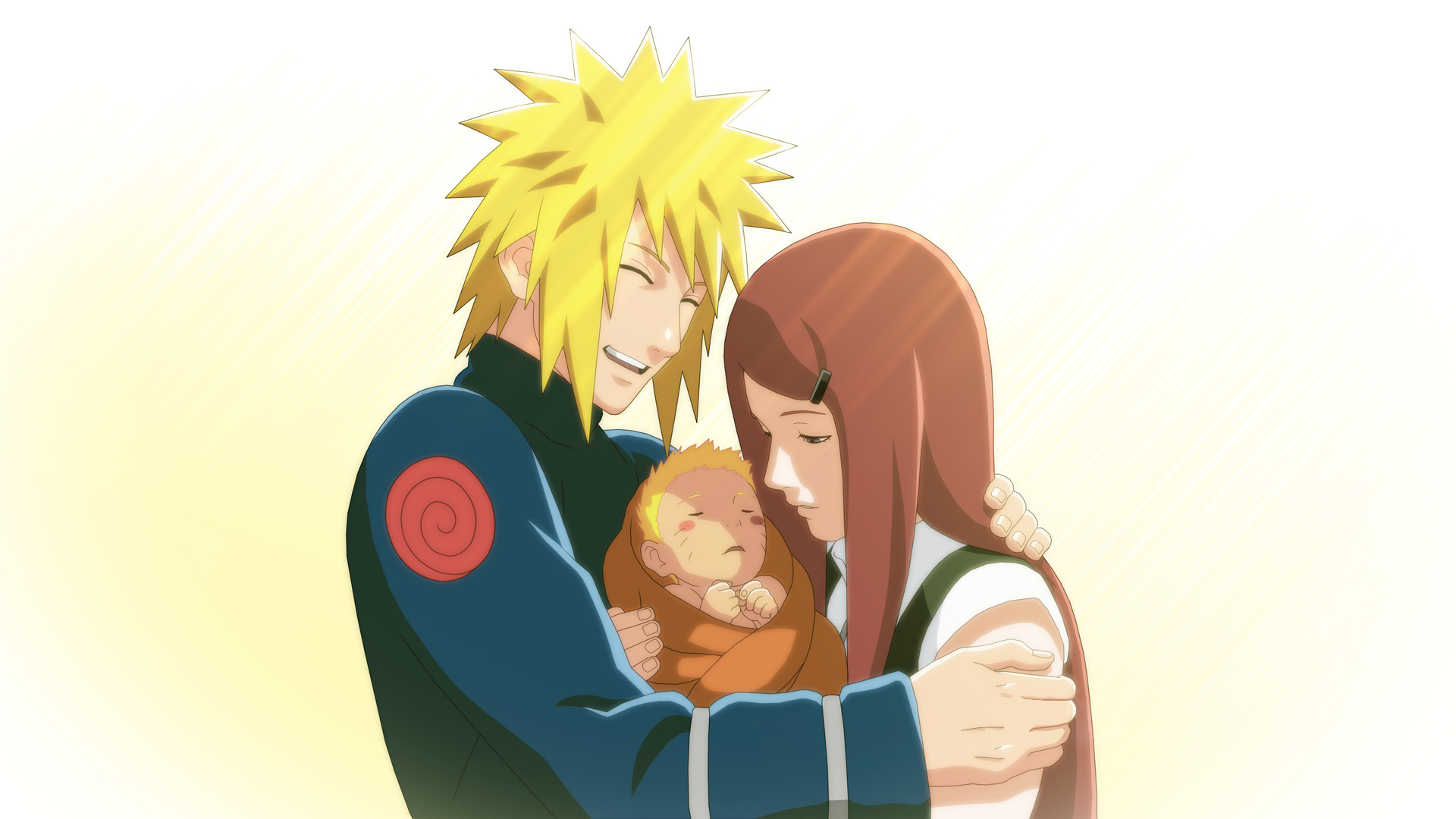 Minato, Naruto, Kushina Offical Wallpaper Art (Naruto Shippuden Ultimate Ninja Storm 3)