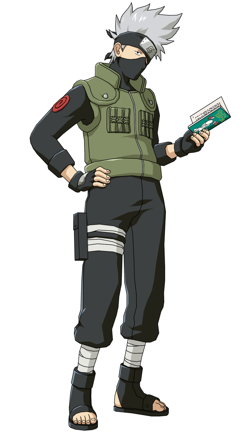 Kakashi Hatake with Book Render (Naruto Shippuden Ultimate Ninja Storm 2)