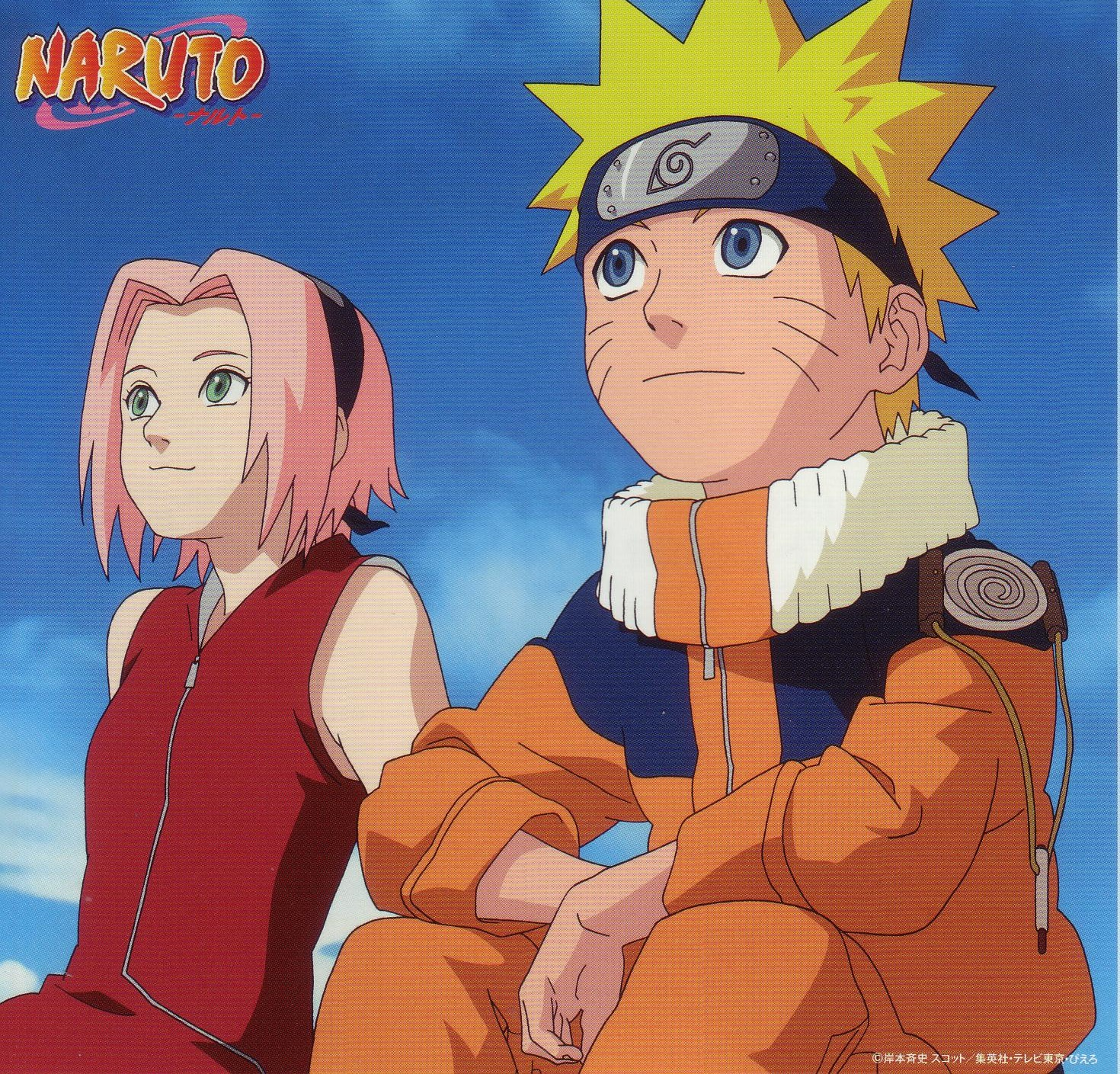 Sakura and Naruto Look Up at the Sky