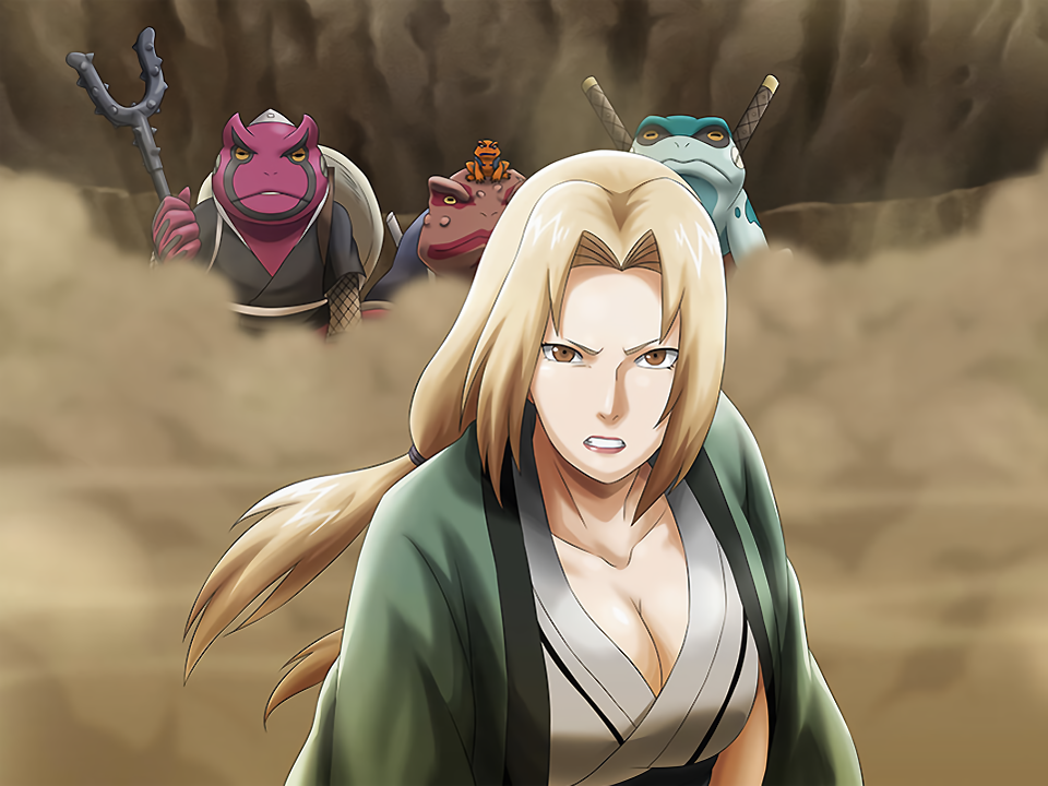 Tsunade with Toads Behind Card (Naruto x Boruto Ninja Voltage)