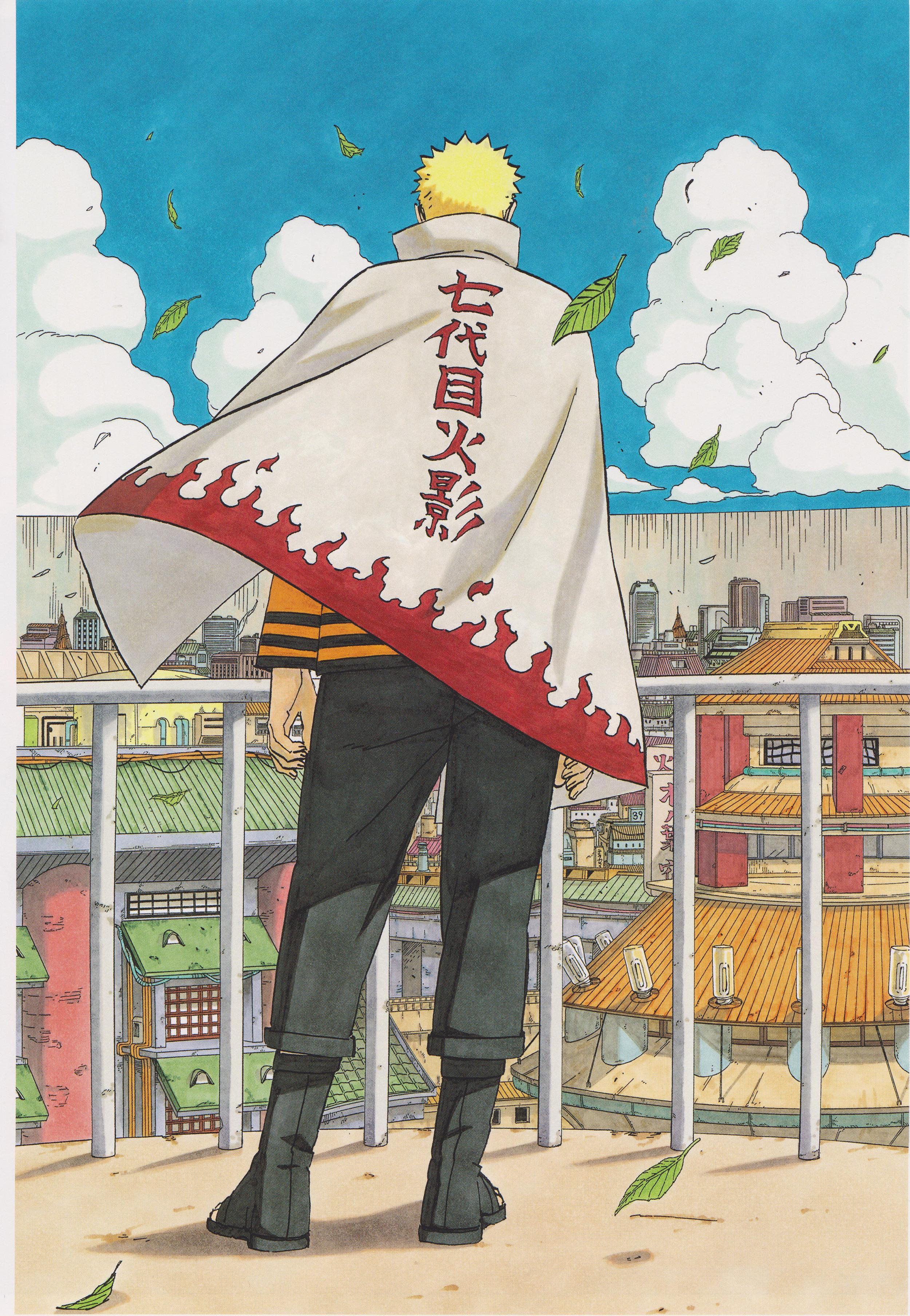 Hokage Naruto in the Final Volume of Series
