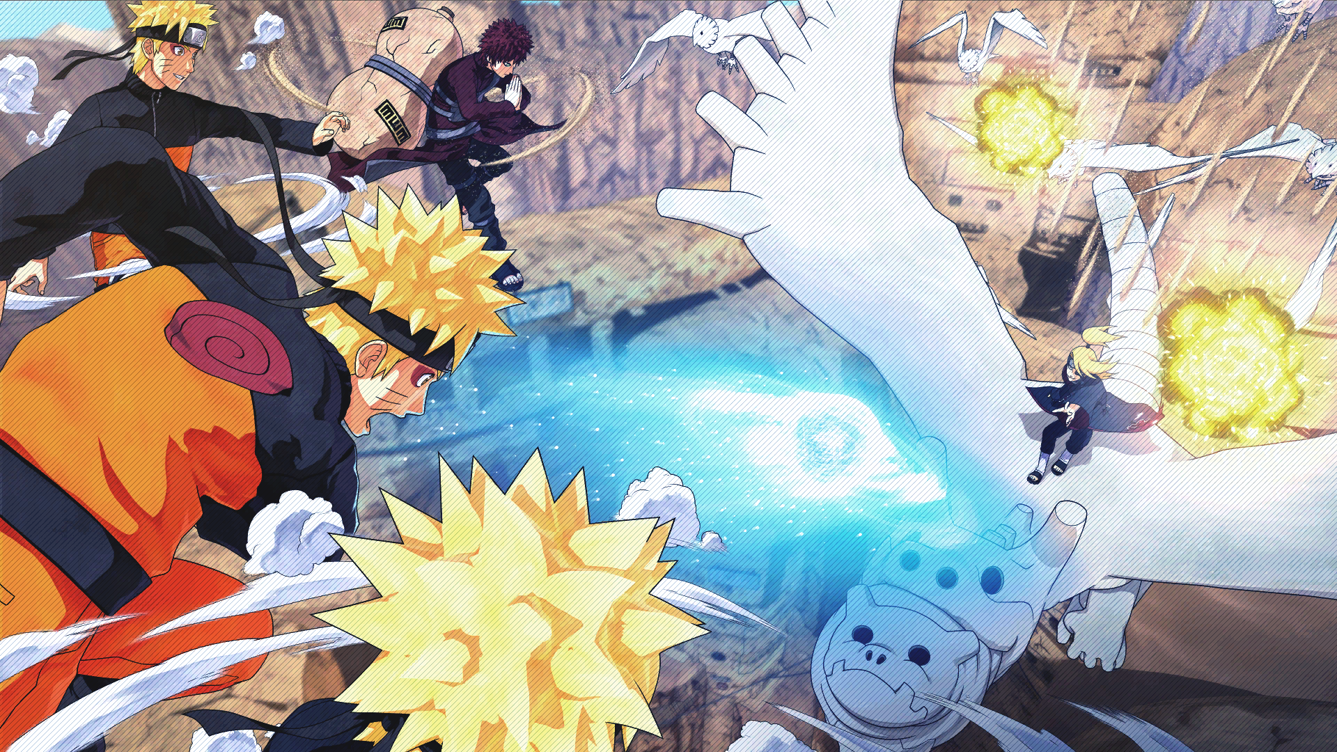 Naruto, Gaara vs Deidara Loading Screen Art (Naruto to Boruto Shinobi Striker)