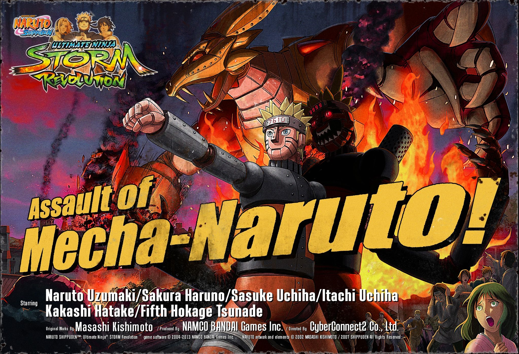 Assault of Mecha Naruto Key Art (Naruto Shippuden Ultimate Ninja Storm Revolution)