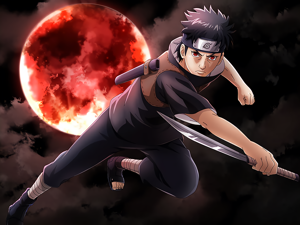 Shishui and Blood Red Moon Card (Naruto x Boruto Ninja Voltage)