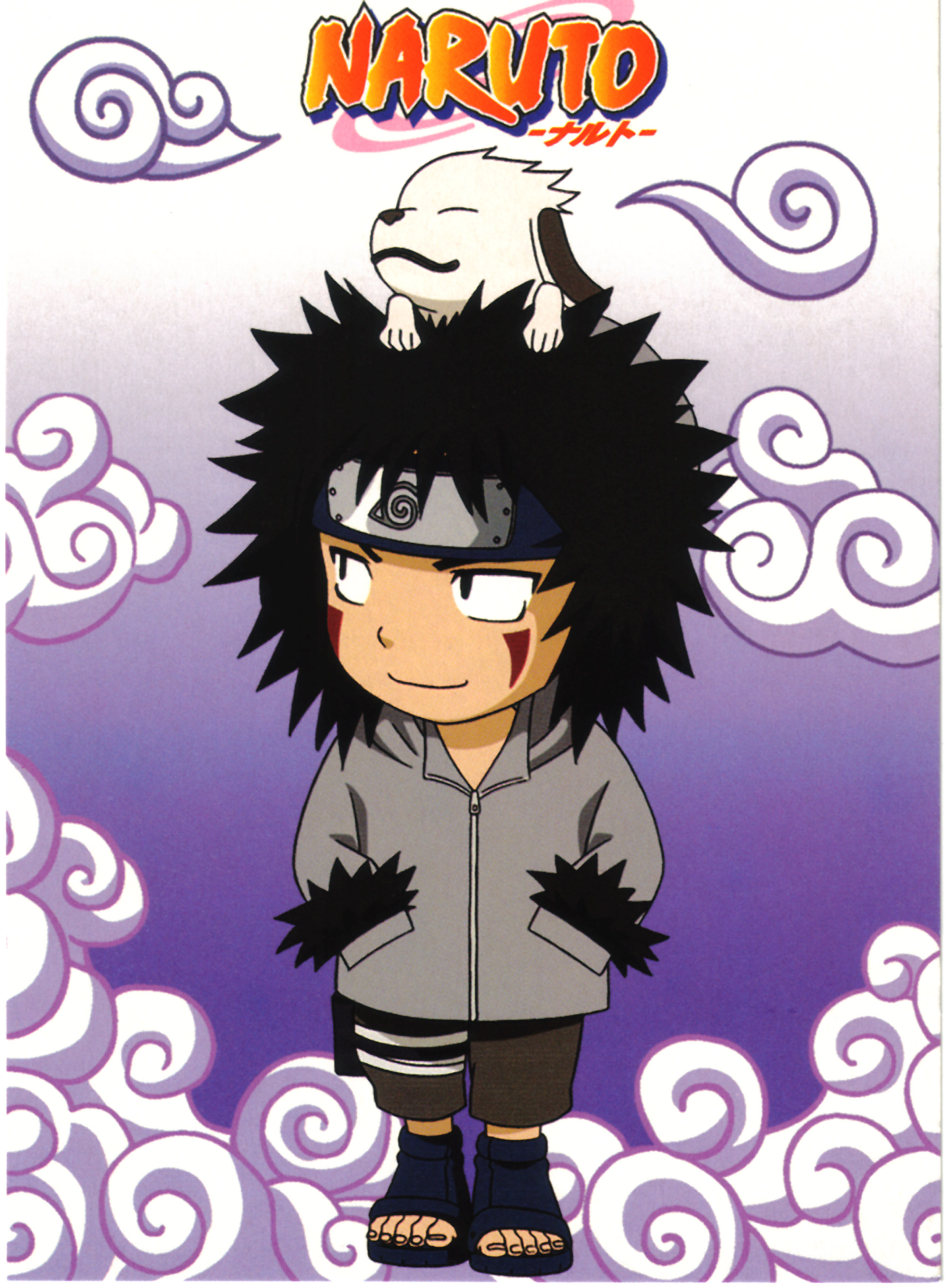 Chibi Kiba and Akamaru Card