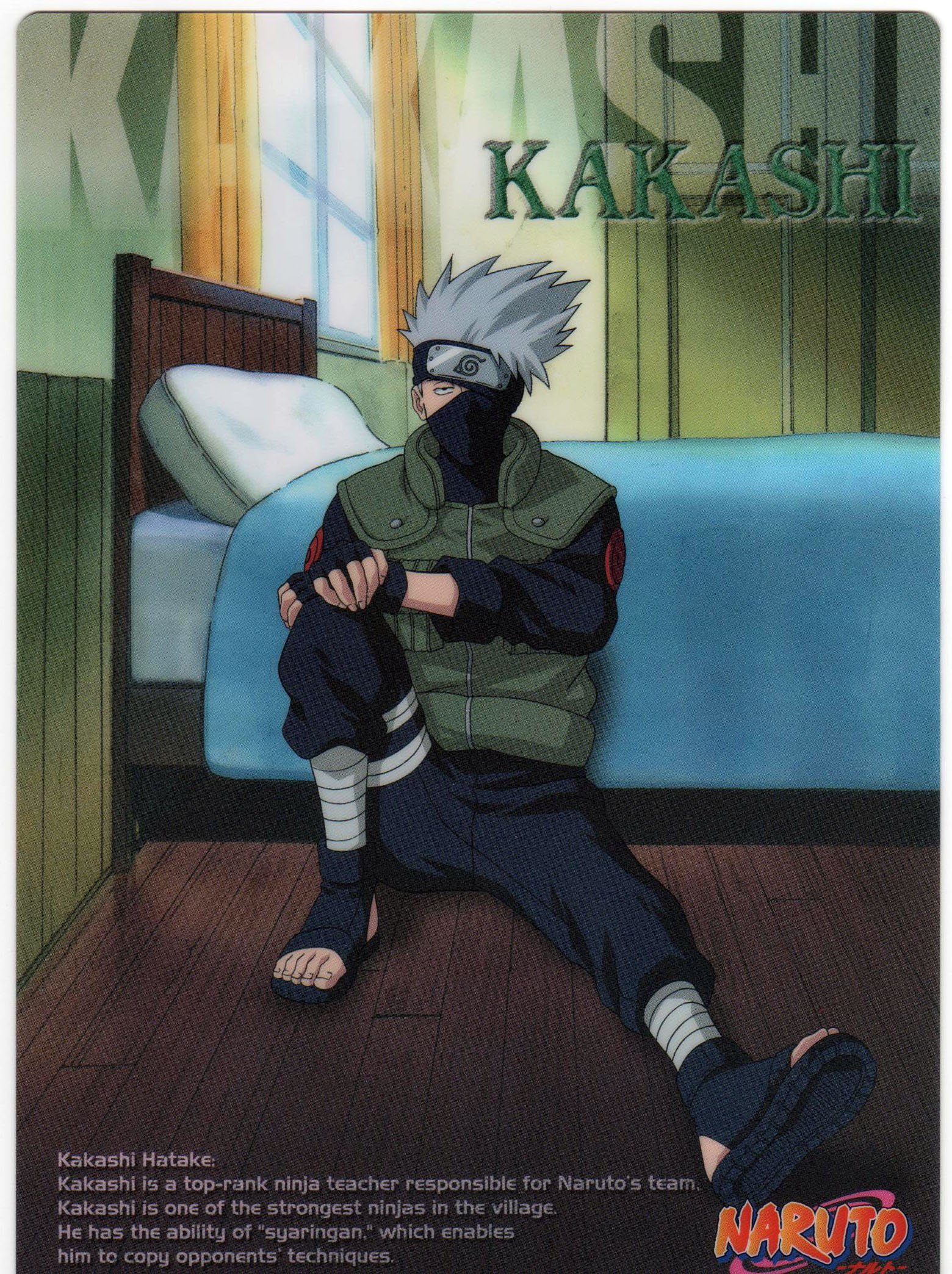 Hatake Kakashi Card in His Room.jpg