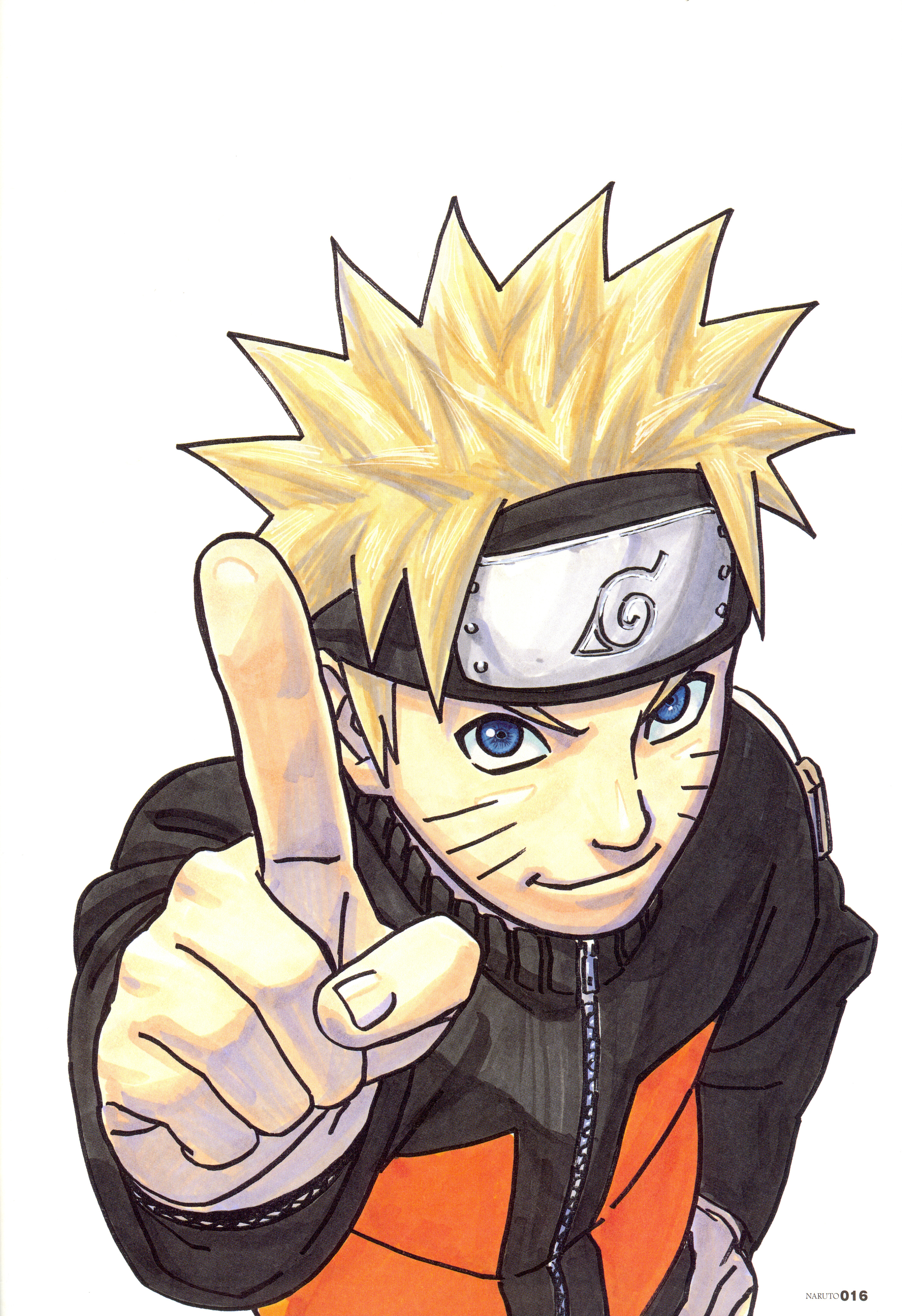 Naruto Holds Finger Up to Make a Point
