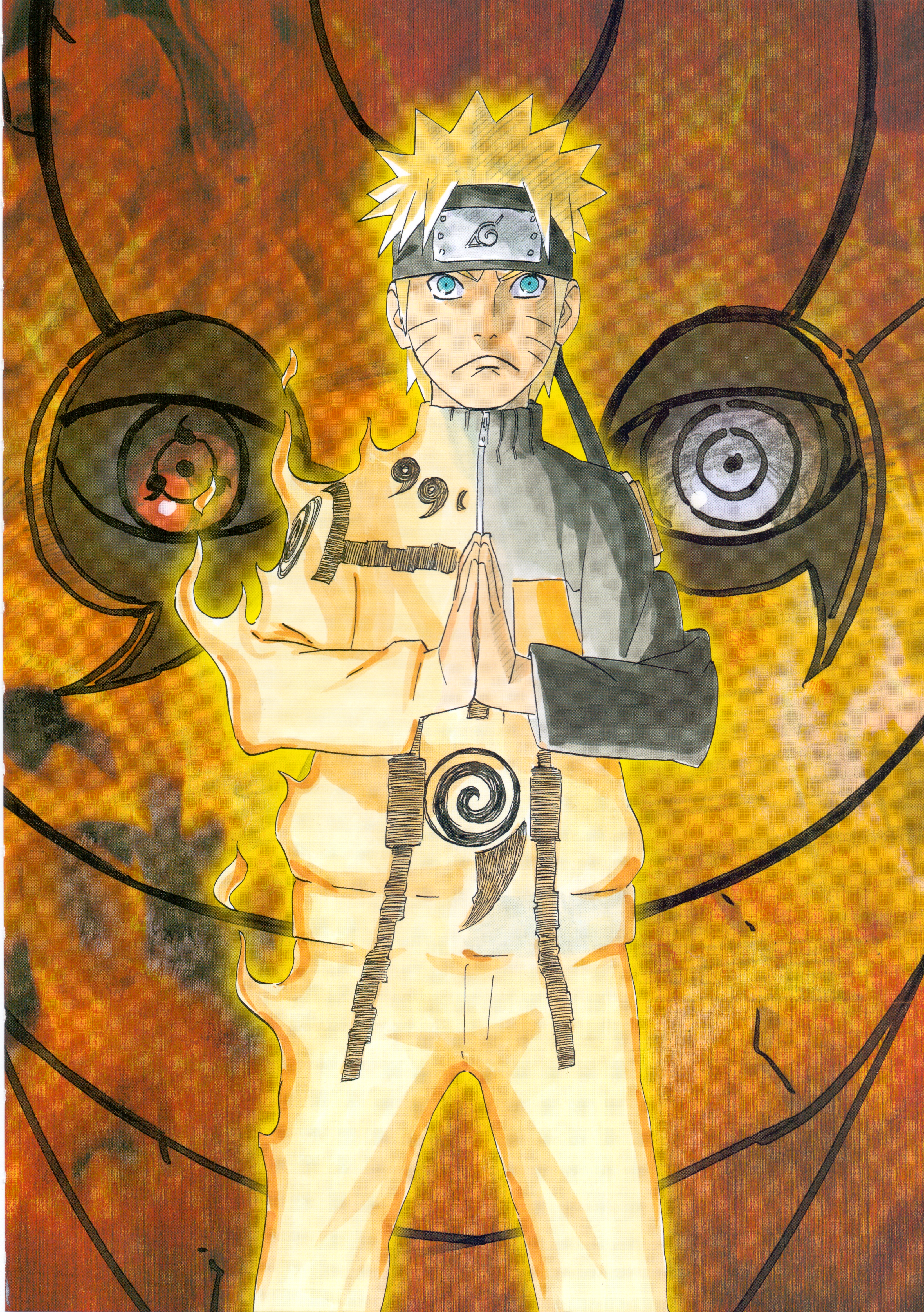 Naruto Transforms As Tobi Looks From Behind