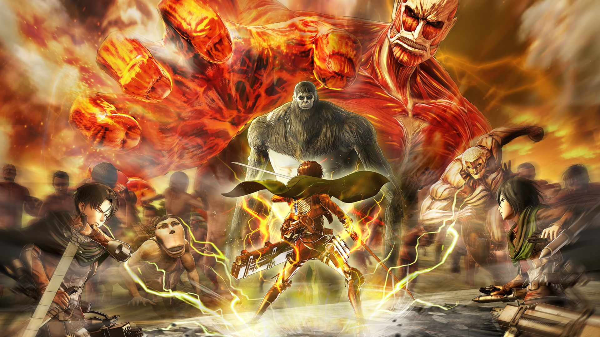 Attack on Titan 2 Final Battle Wallpaper Art