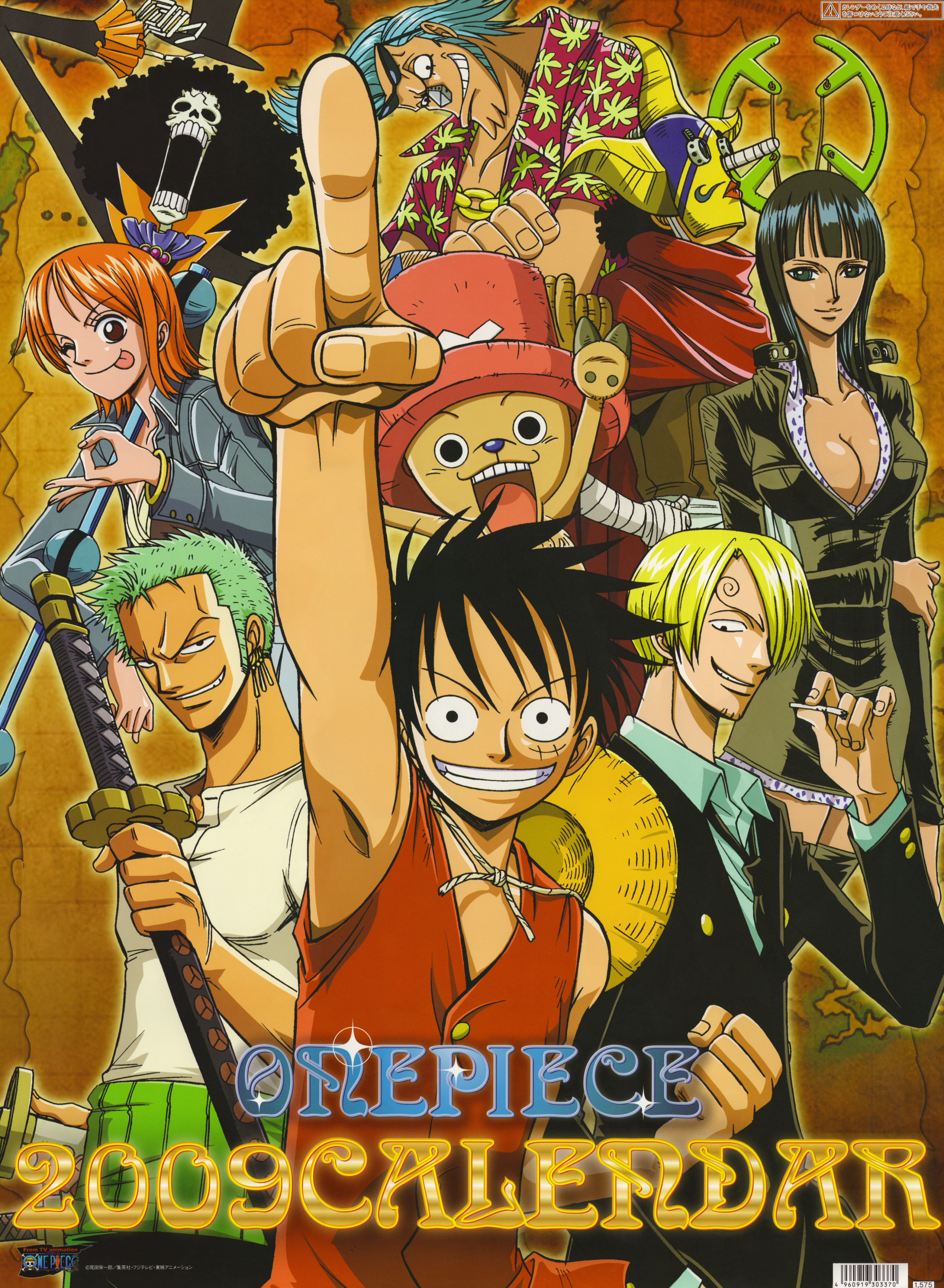 00 One Piece 2009 Calendar Cover