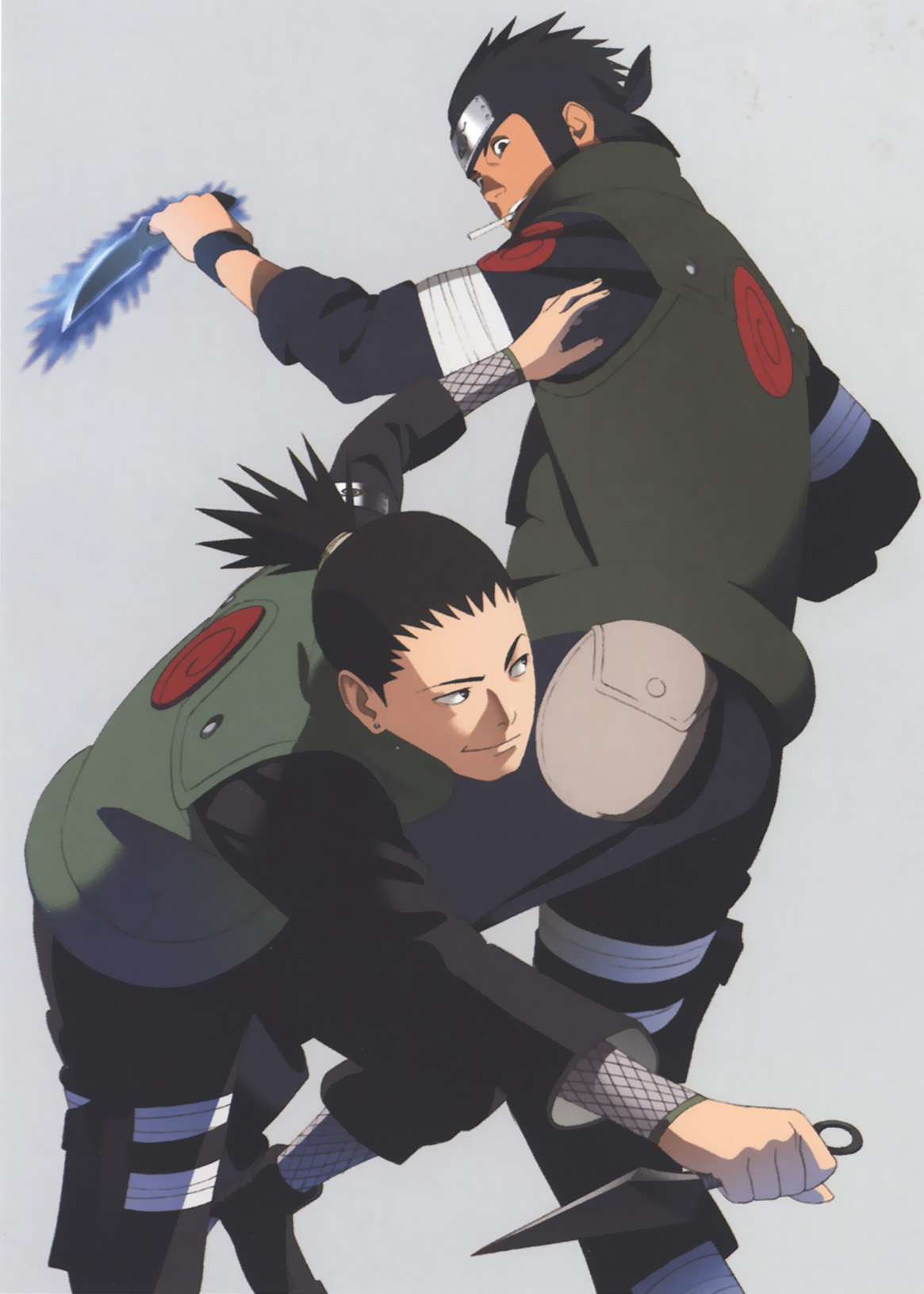 Asuma and Shikamaru (Naruto Artbook)