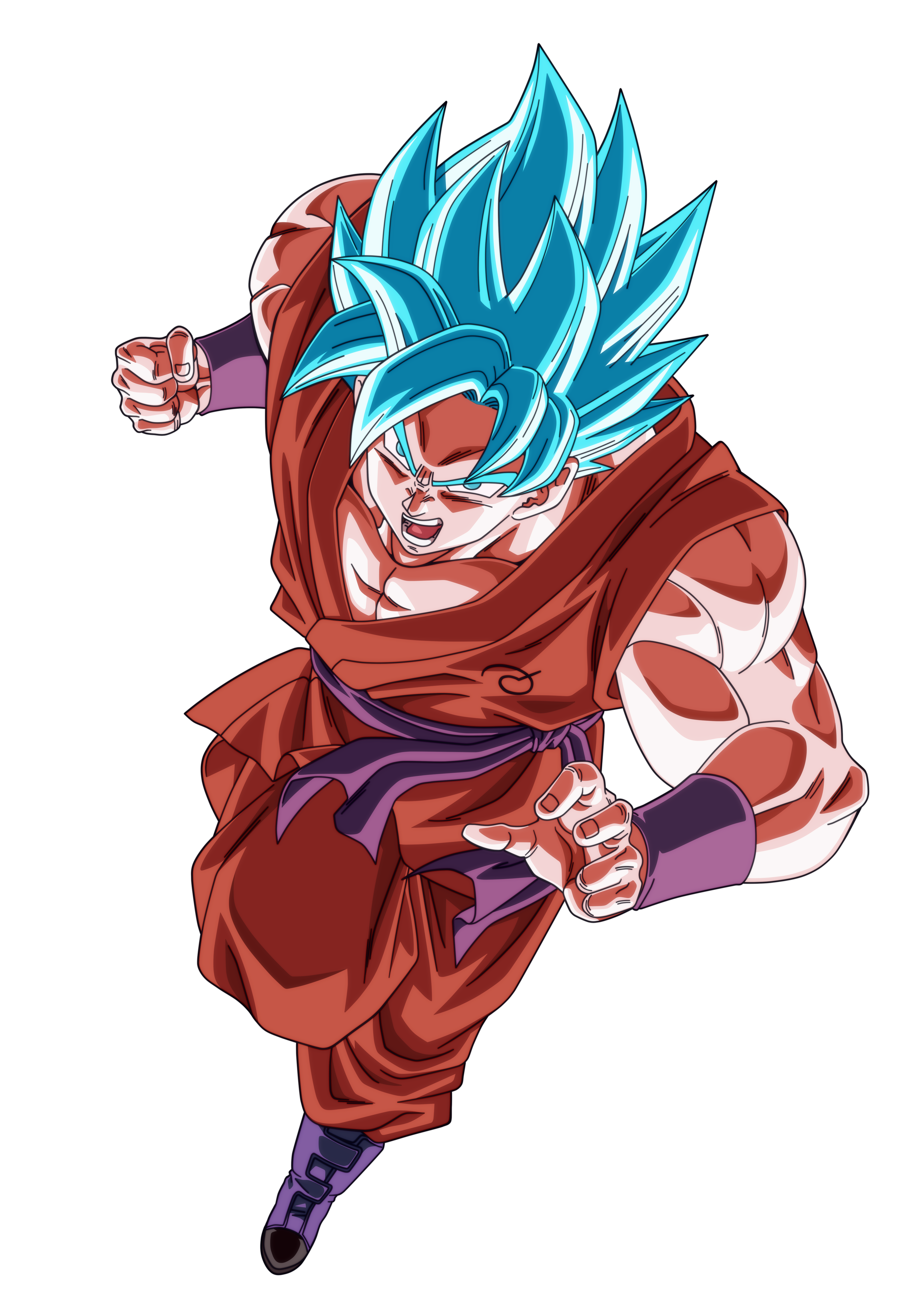 Goku Blue Charges Angry Render.png