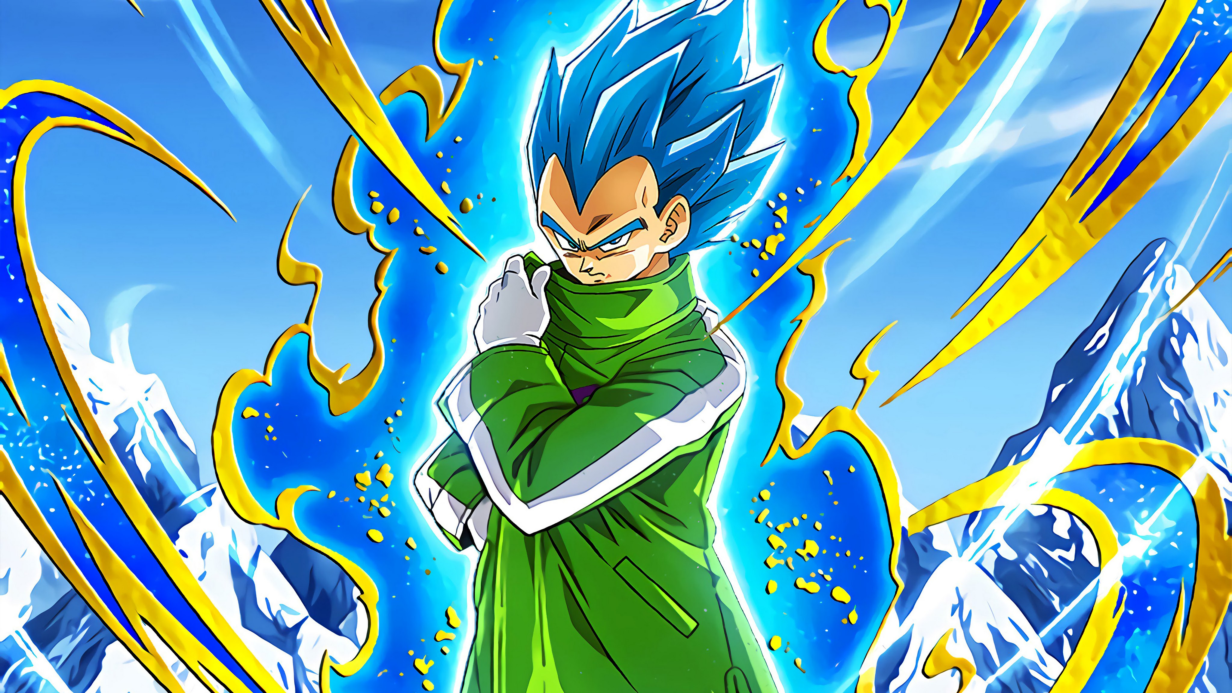 Vegeta Blue with Green Coat from DBS Broly Movie
