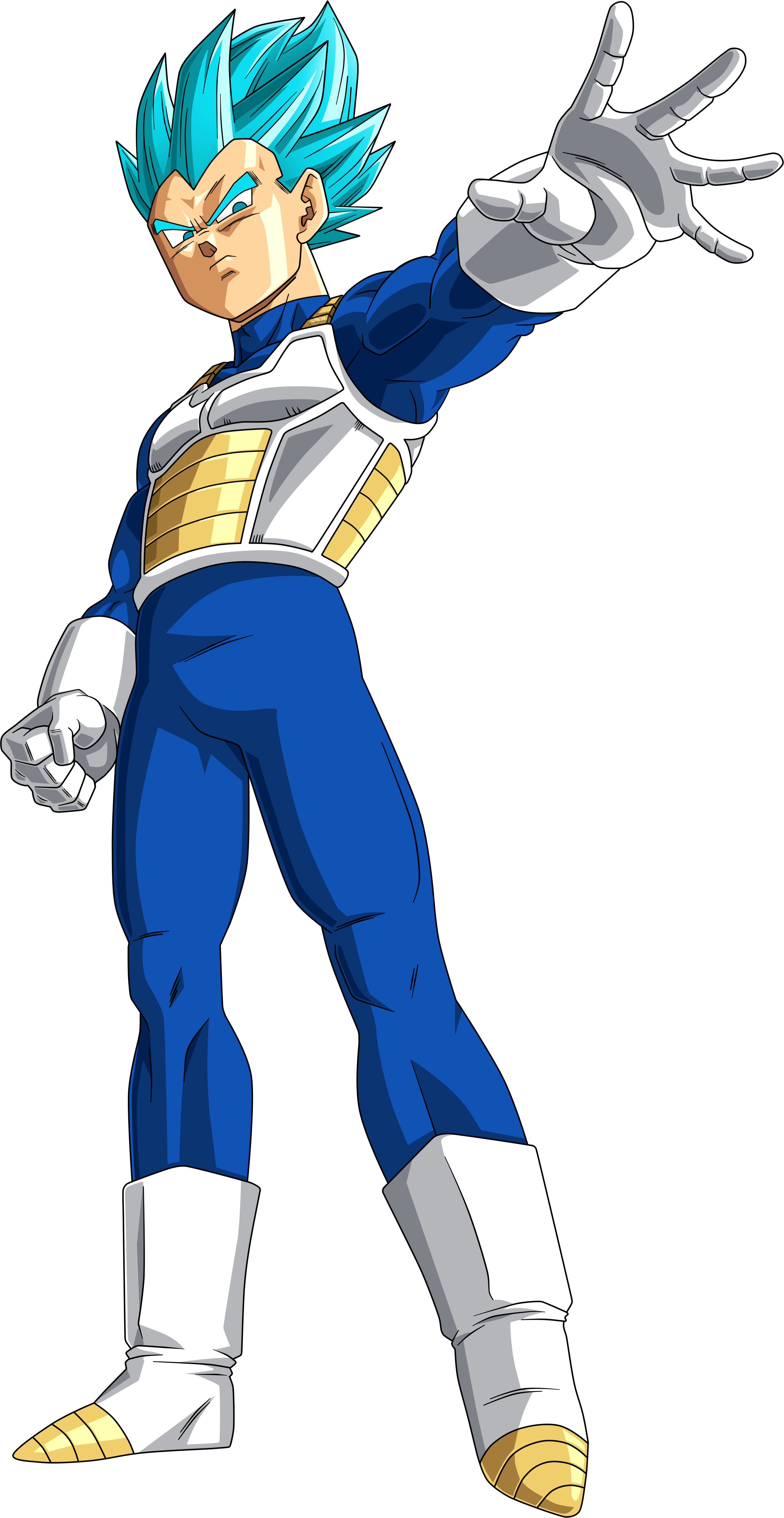 Vegeta Super Saiyan Blue Sticks Arm Out Render.png
