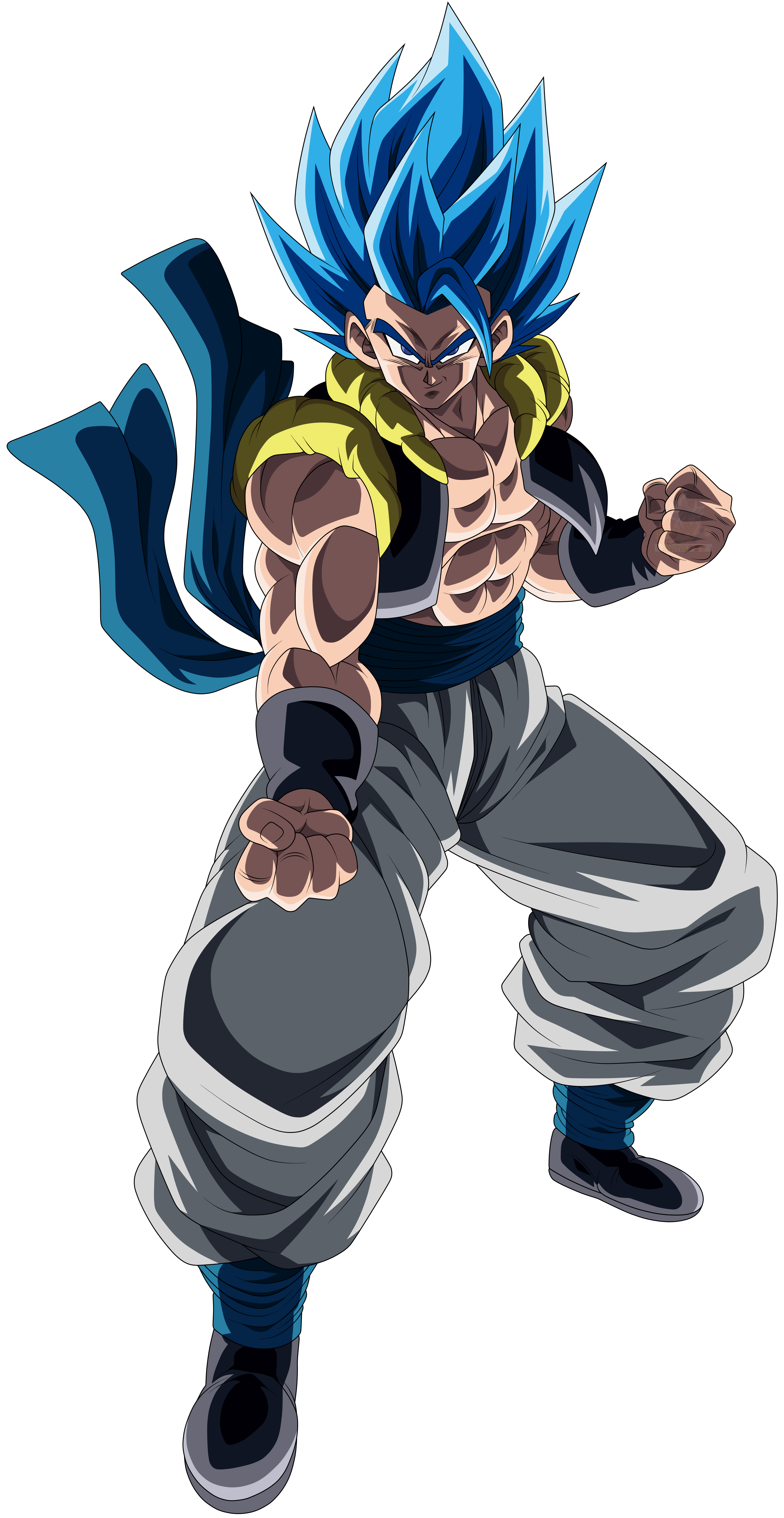 Gogeta Blue Poses Render (Dragon Ball Z Dokkan Battle).png