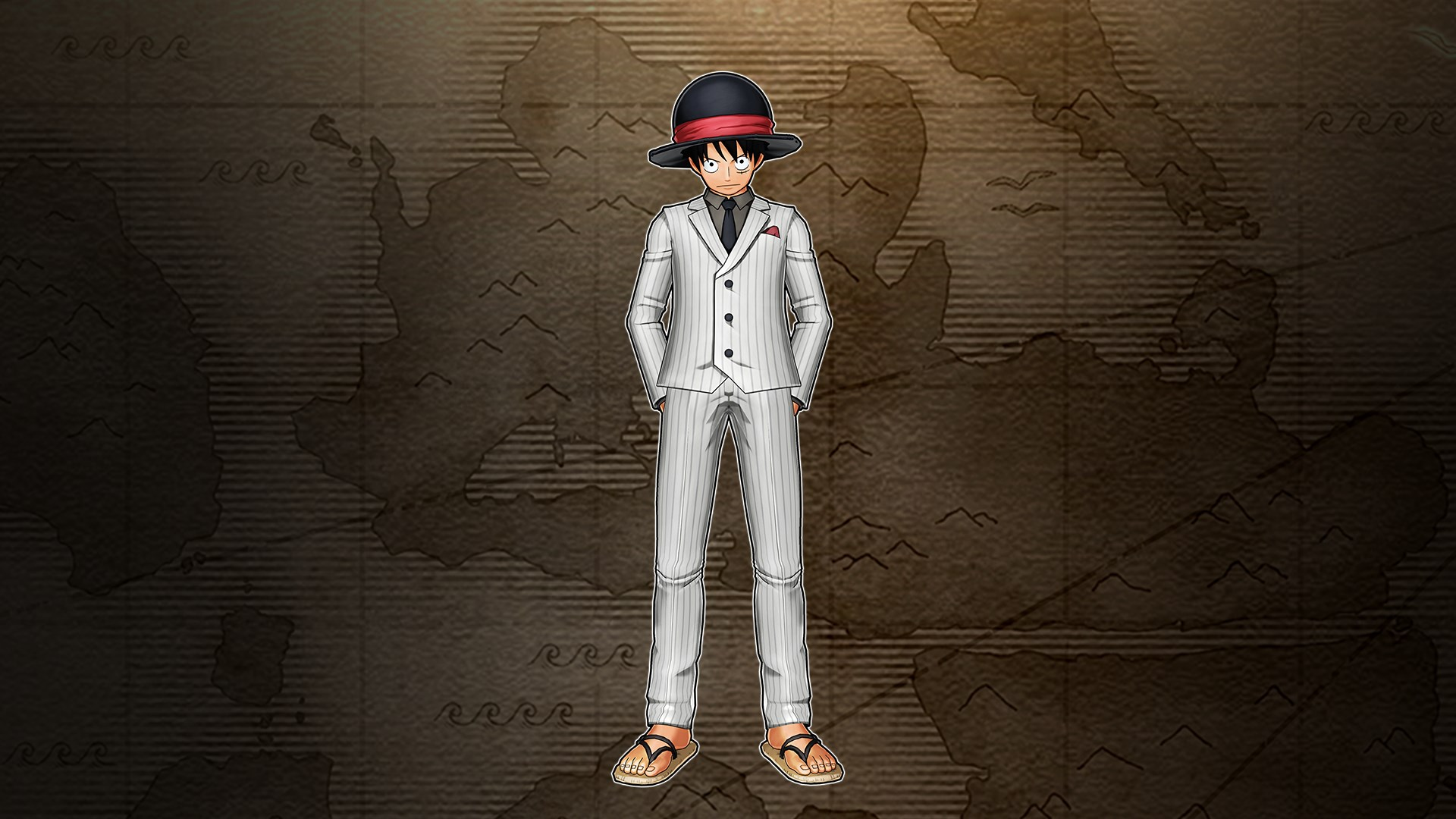 Luffy White Suit (One Piece World Seeker)