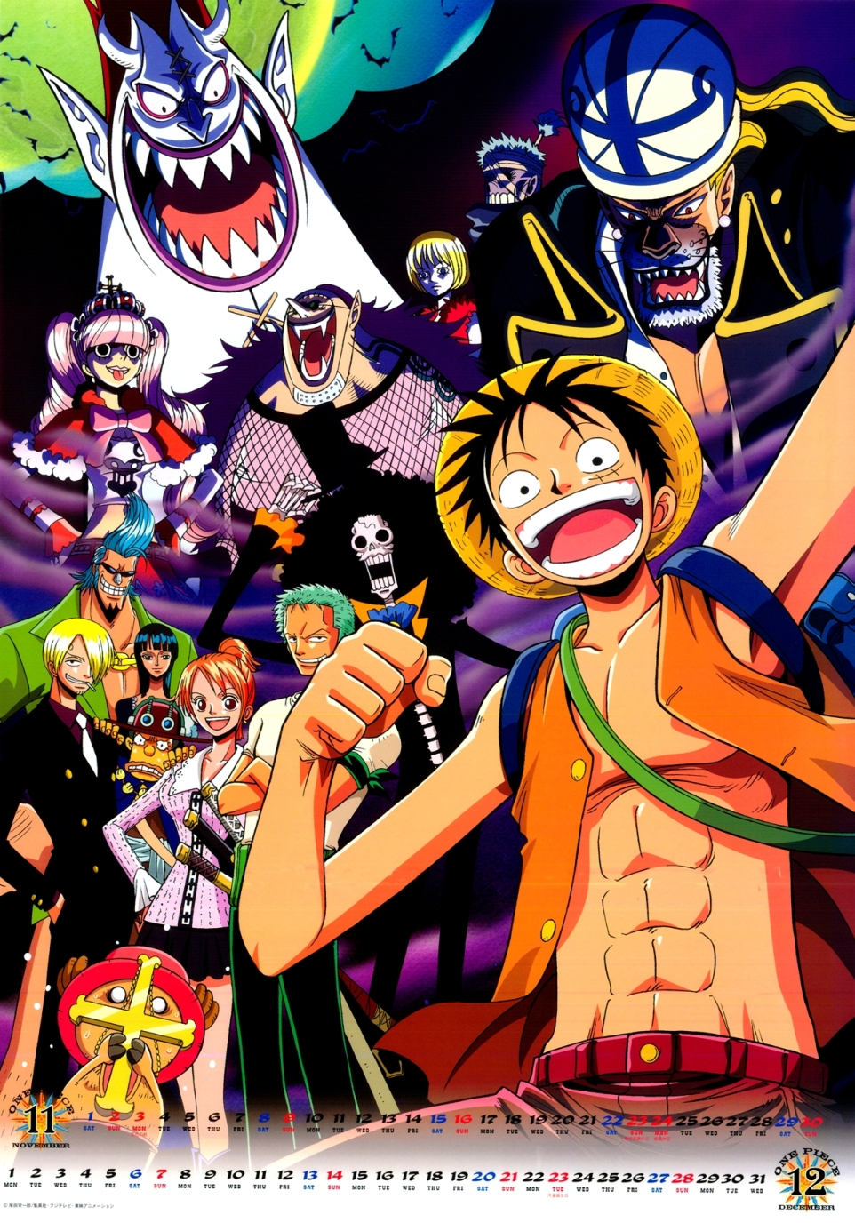 11-12 Thriller Bark and Straw Hats (One Piece 2008 Calendar)