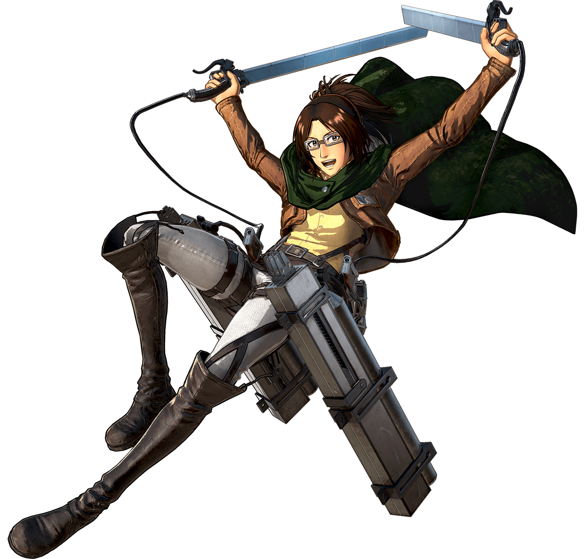 Hange Zoe Render (Attack on Titan 2 Game)