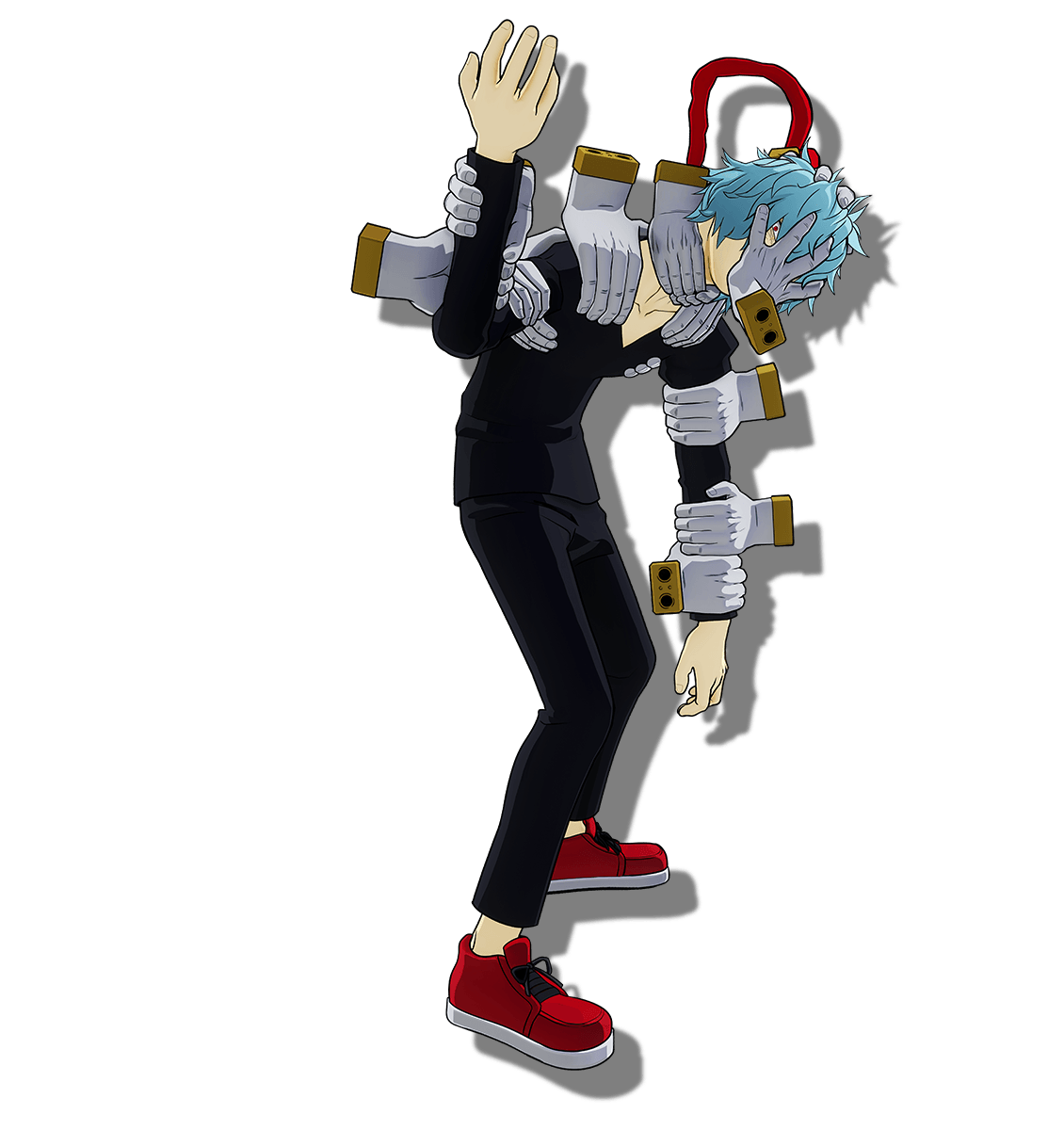 Tomura Shigaraki Hands on Body 3D Render (My Hero One's Justice 2).png