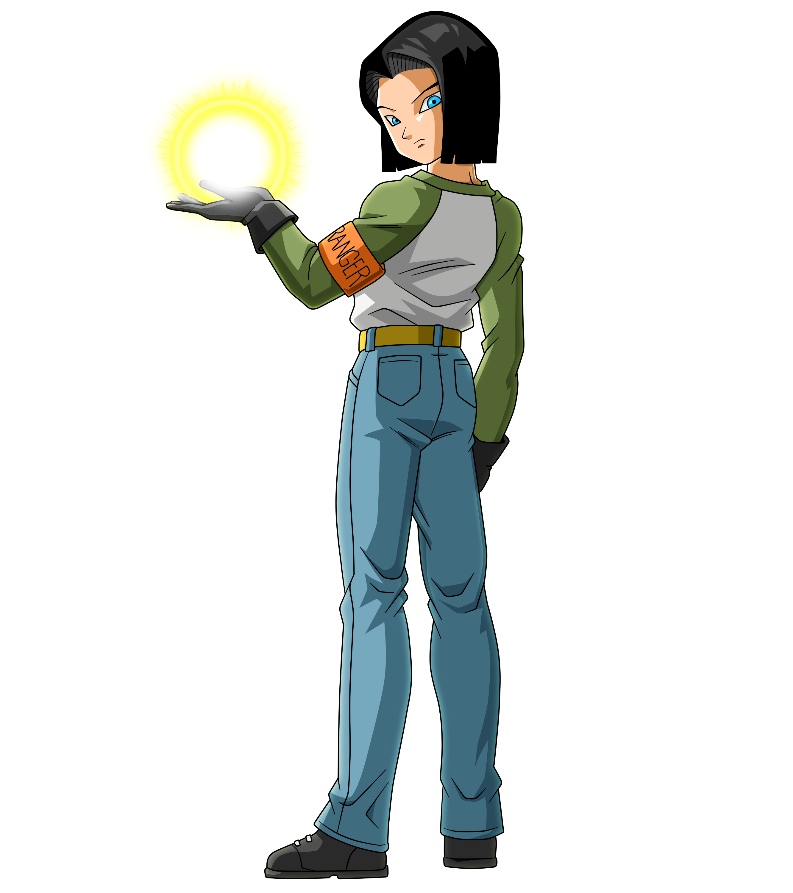 Android 17 Back Turned with Blast.png