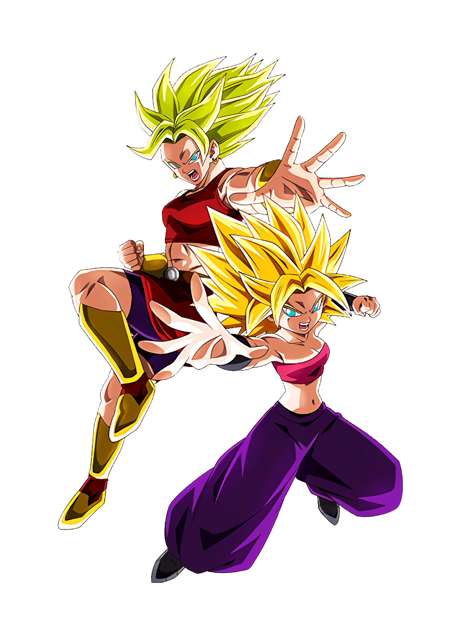 Oath of Development Super Saiyan Caulifla & Super Saiyan Kale DBS Render (Dragon Ball Z Dokkan Battle).png
