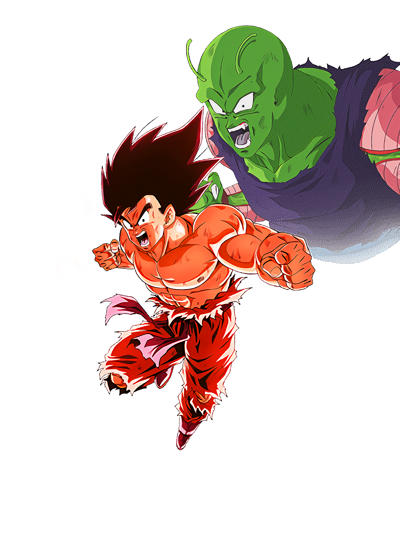 Otherworld Combination of Union Power Goku Kaioken Render (Dragon Ball Z Dokkan Battle) .png