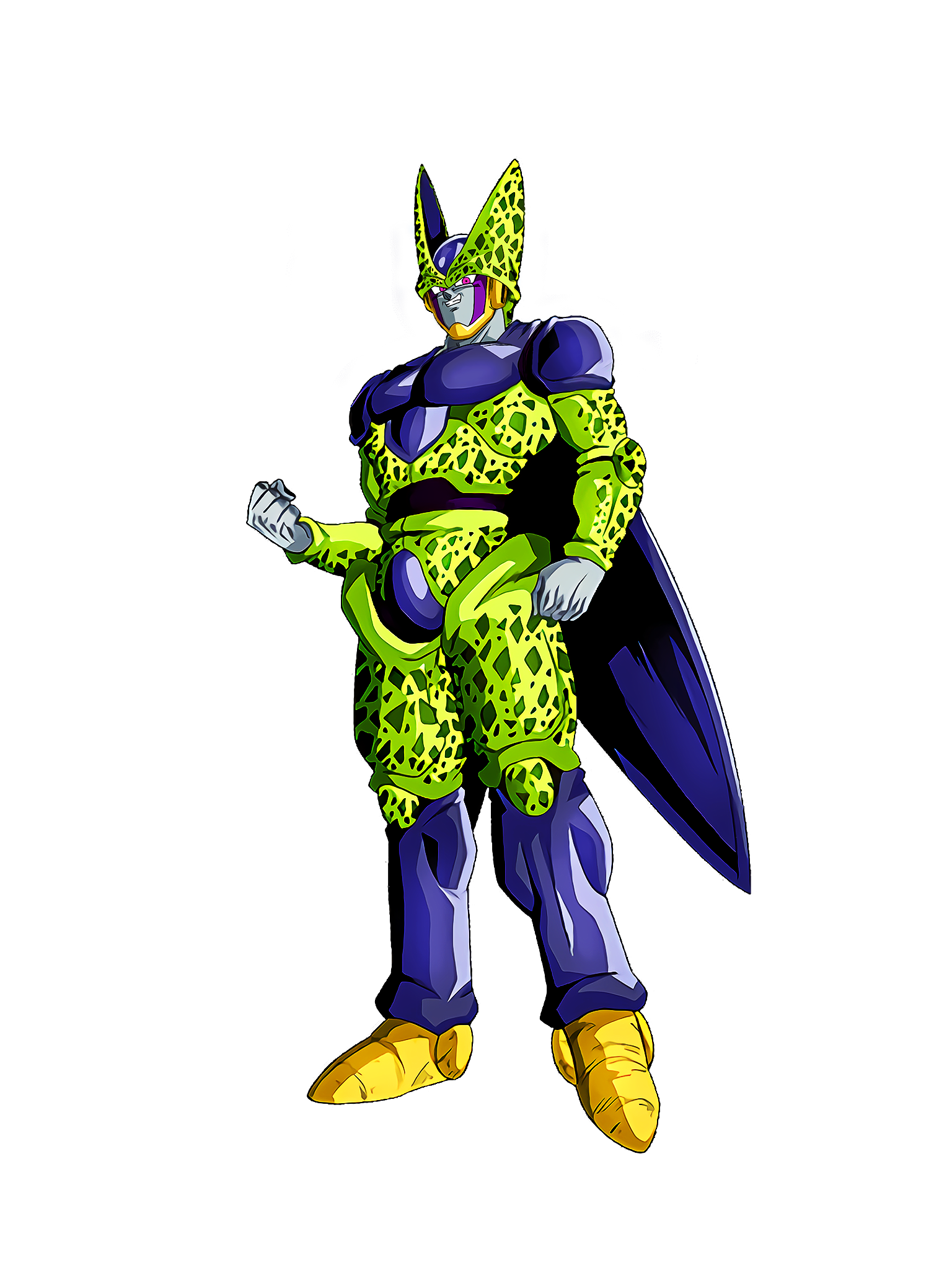 Retaliation for Revival Cell Perfect Form GT Render (Dragon Ball Z Dokkan Battle) .png