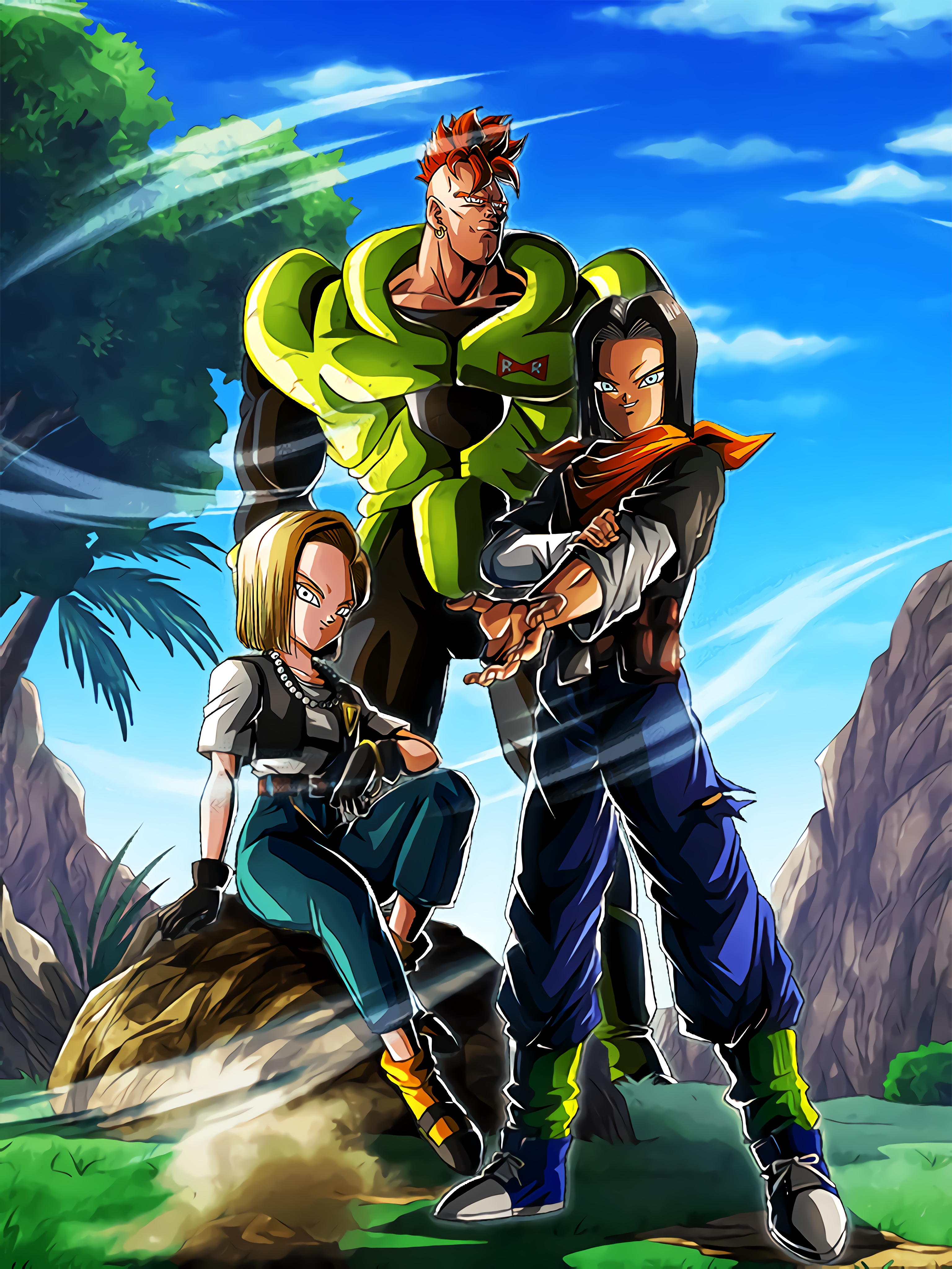 The Androids' Journey Androids #17 & #18 Android #16 Art (Dragon Ball Z Dokkan Battle).jpg