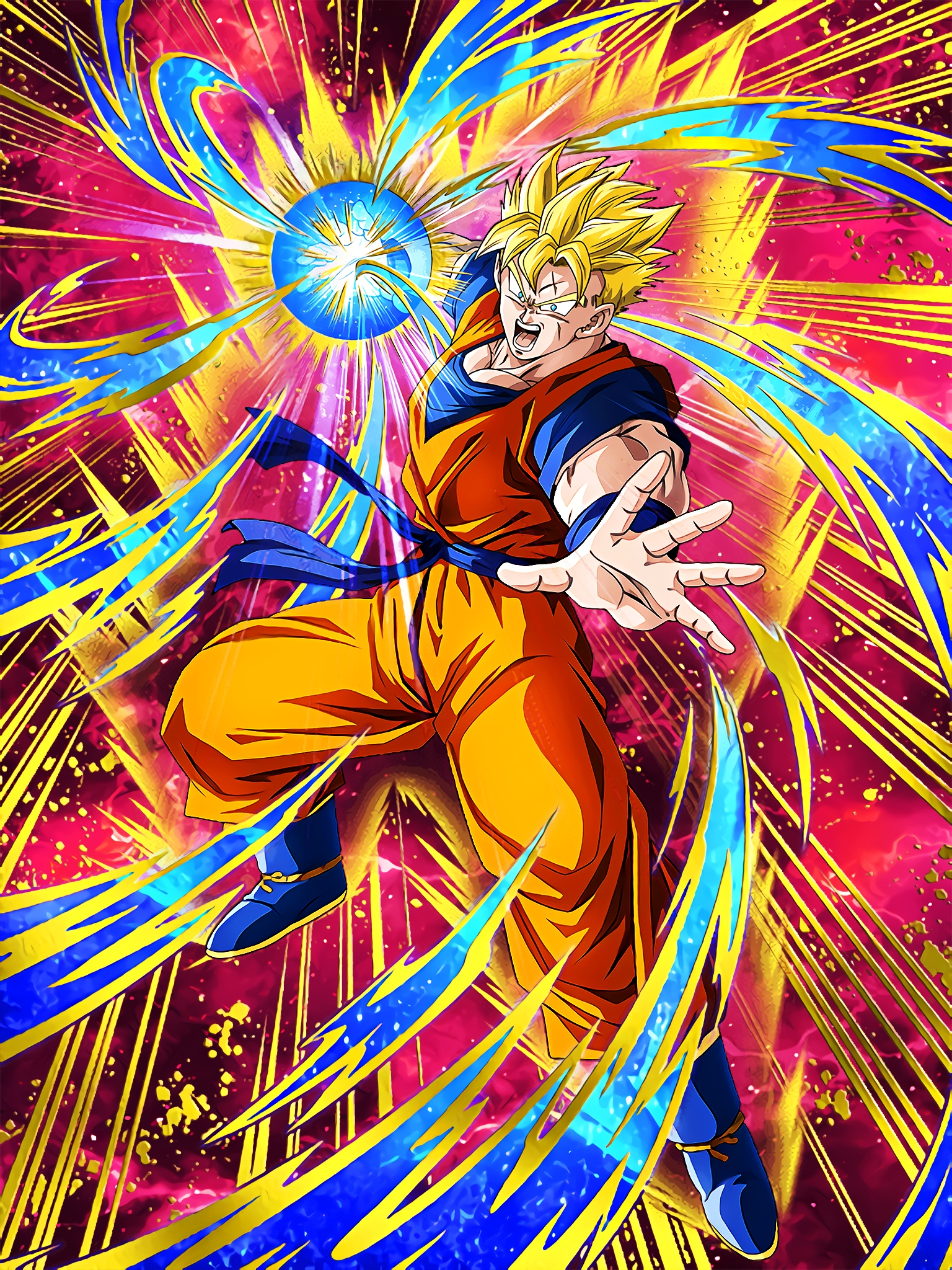 A Desperate Stand Super Saiyan Gohan Future Art (Dragon Ball Z Dokkan Battle).jpg