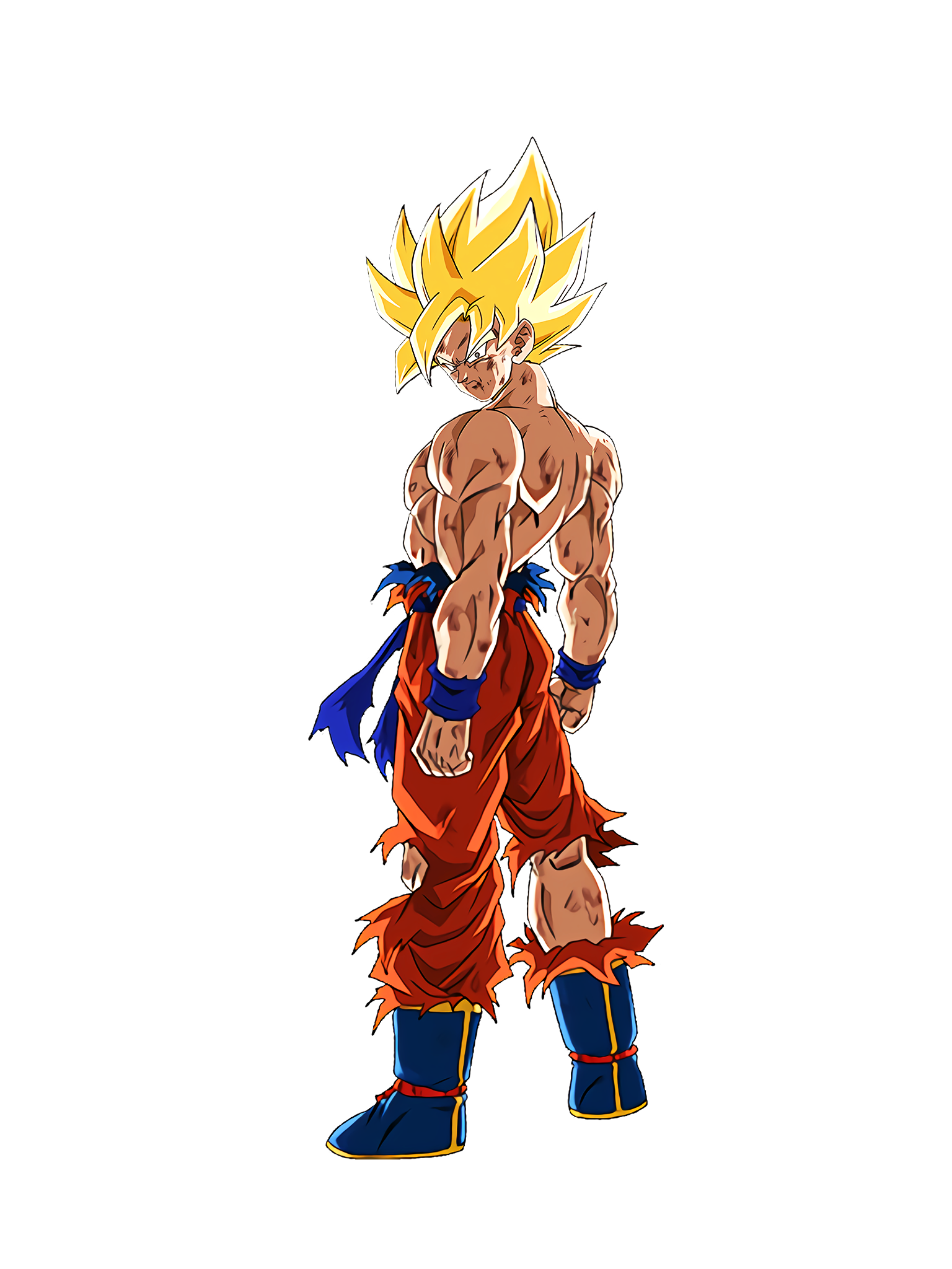 Self-Assured Victory Declaration Super Saiyan Goku Render (Dragon Ball Z Dokkan Battle) .png
