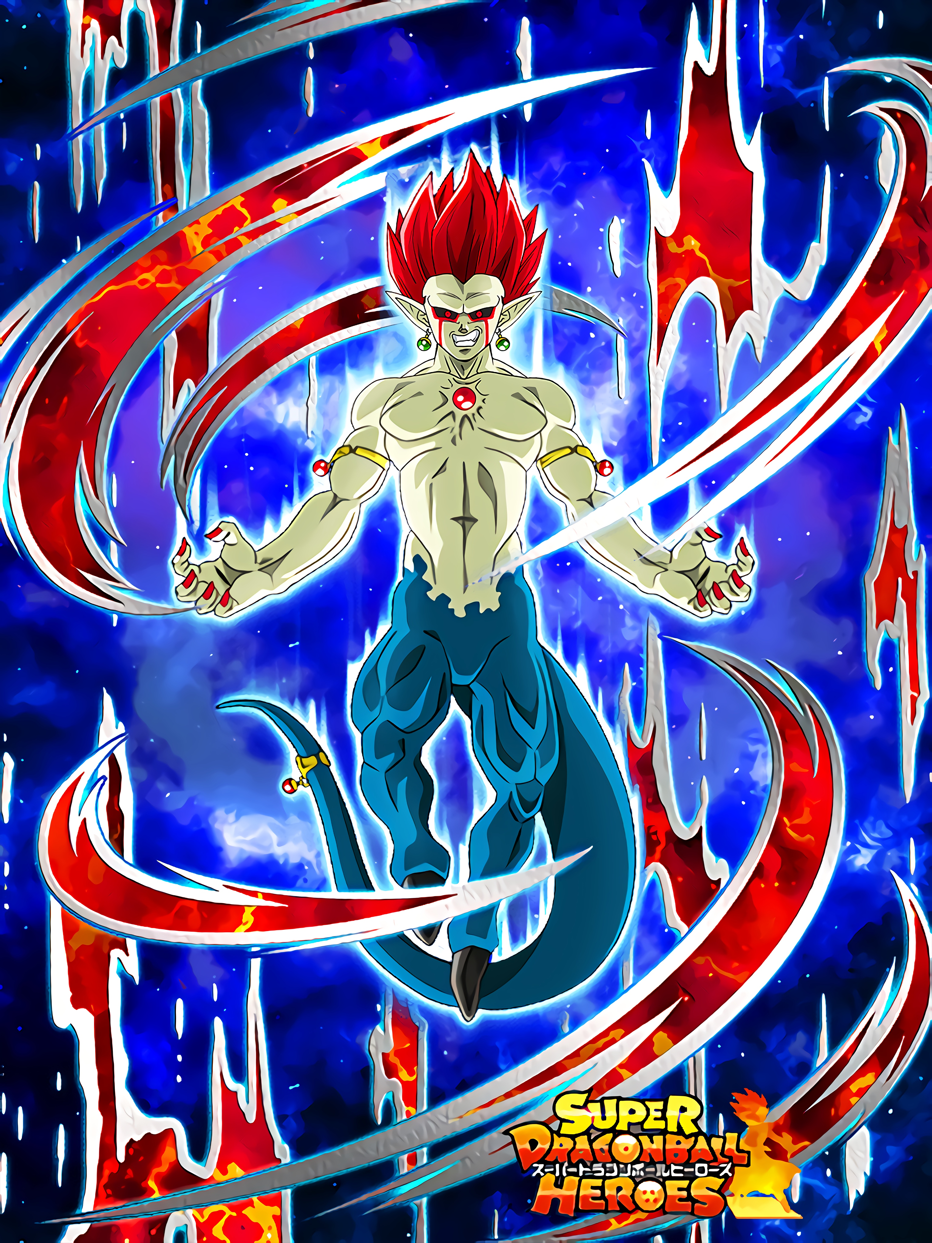 Overflowing Magical Power and Ambition Demigra Enchanced Demon Form Art (Dragon Ball Z Dokkan Battle).jpg