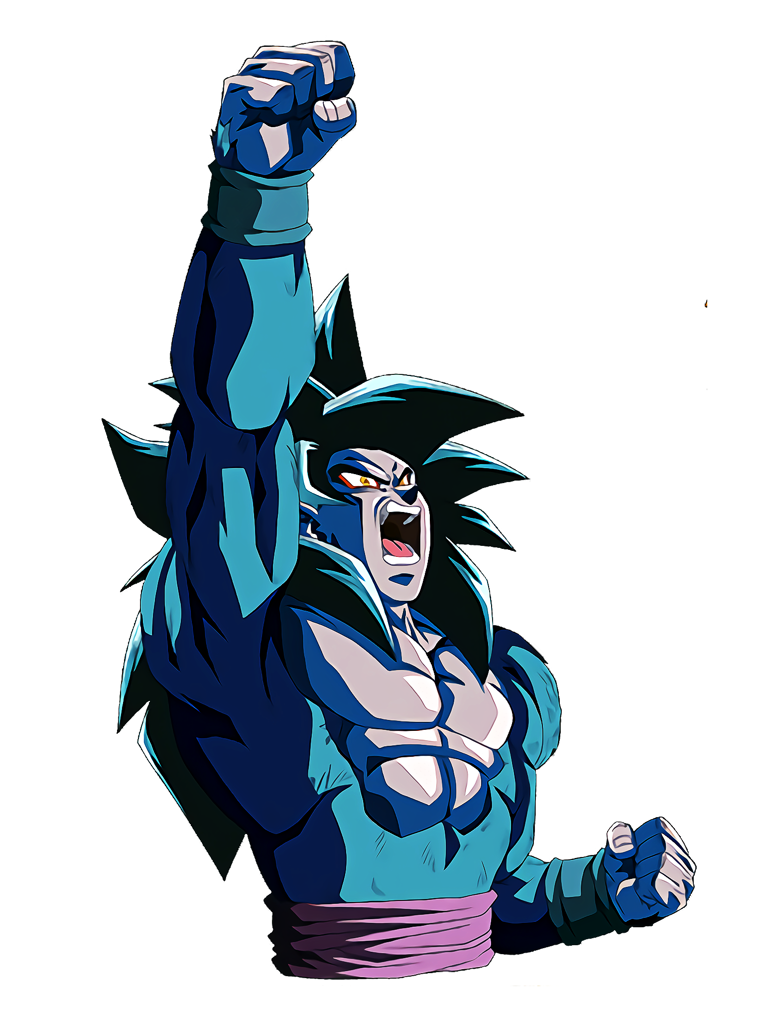 SSJ4 Goku Raises Right Arm GT Render (Dragon Ball Z Dokkan Battle).png
