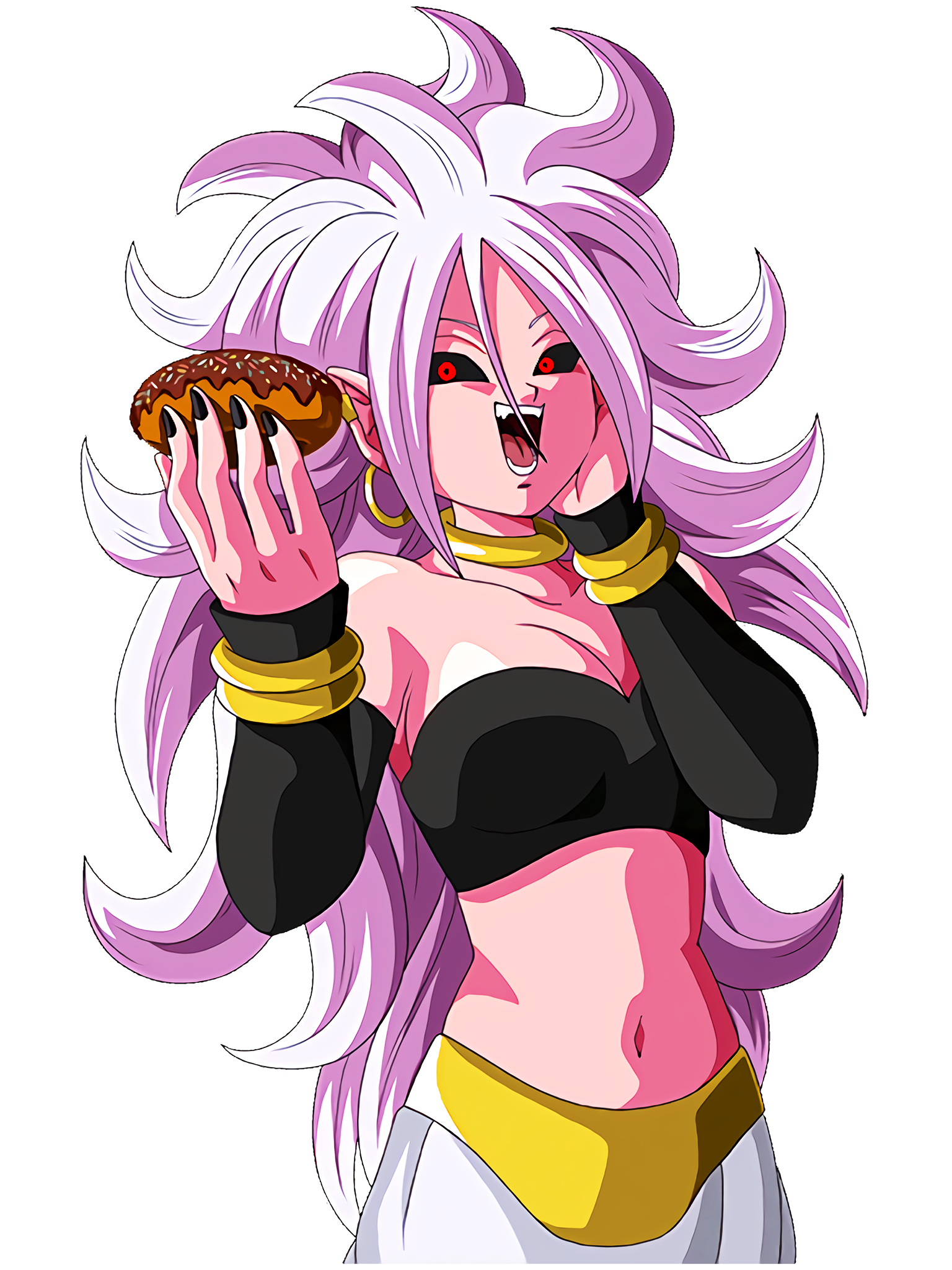 Android 21 Eats Donut Render (Dragon Ball Z Dokkan Battle).png