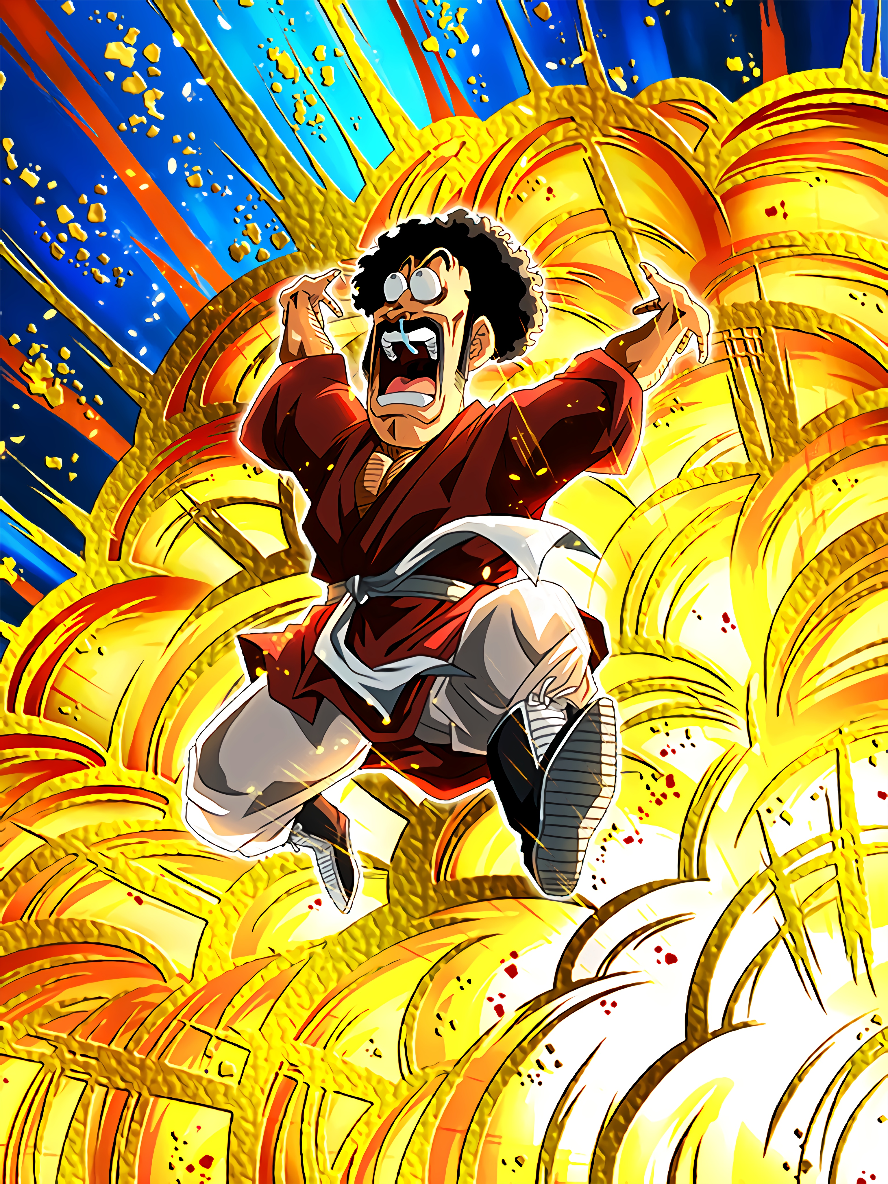 Valiance in the Universe Mr Satan Art (Dragon Ball Z Dokkan Battle).jpg