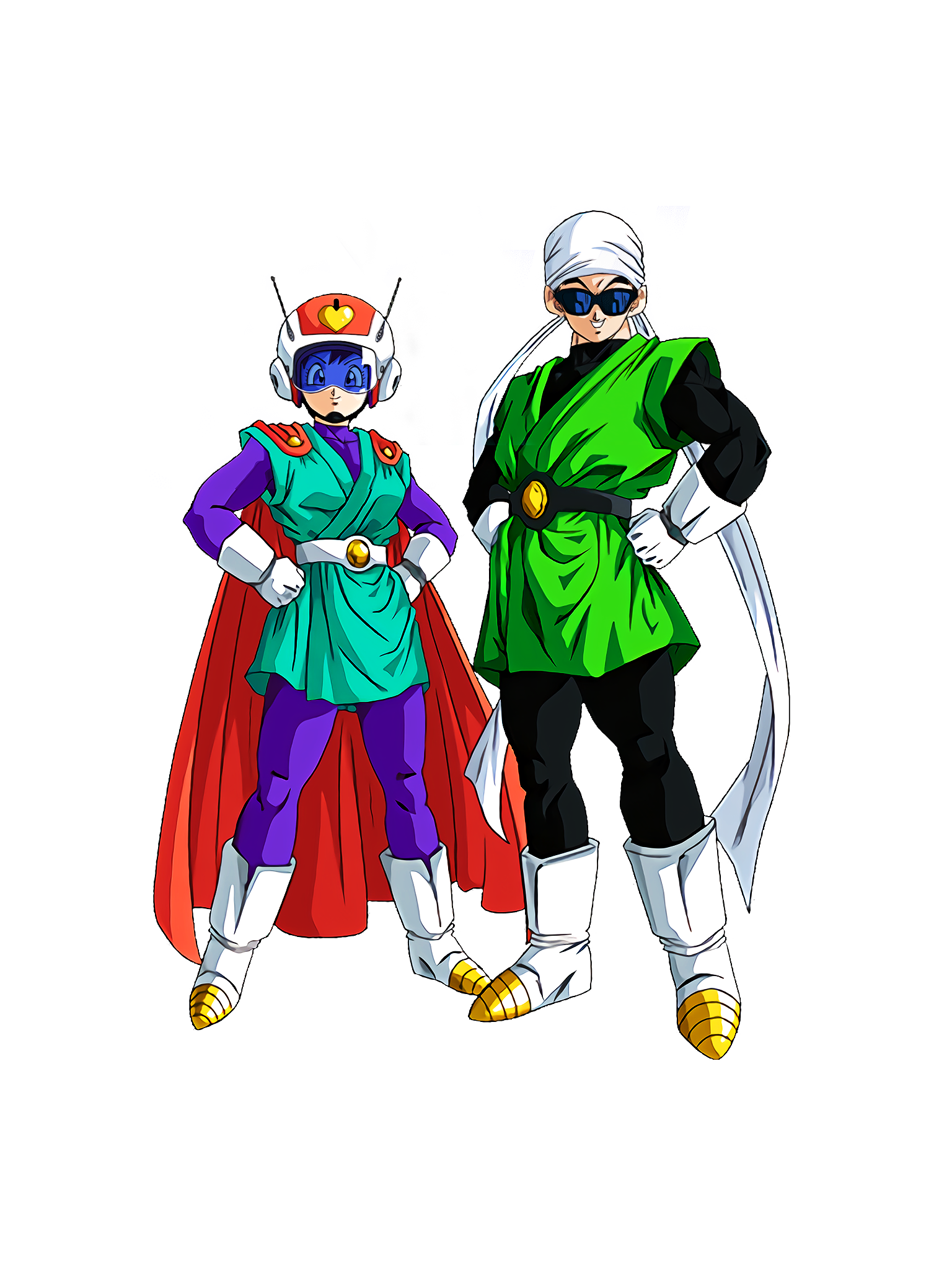Hero of Justice Transformation Complete  Great Saiyaman 1 & 2 Render (Dragon Ball Z Dokkan Battle) .png